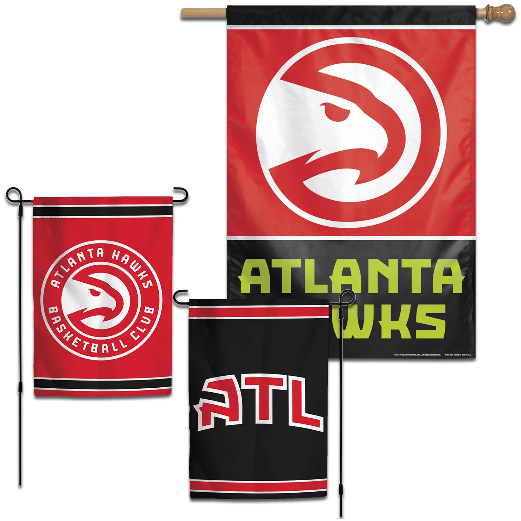 Atlanta Hawks WinCraft House and Garden Flag Pack