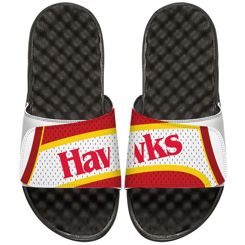 Atlanta Hawks ISlide NBA Hardwood Classics Jersey Slide Sandals - White