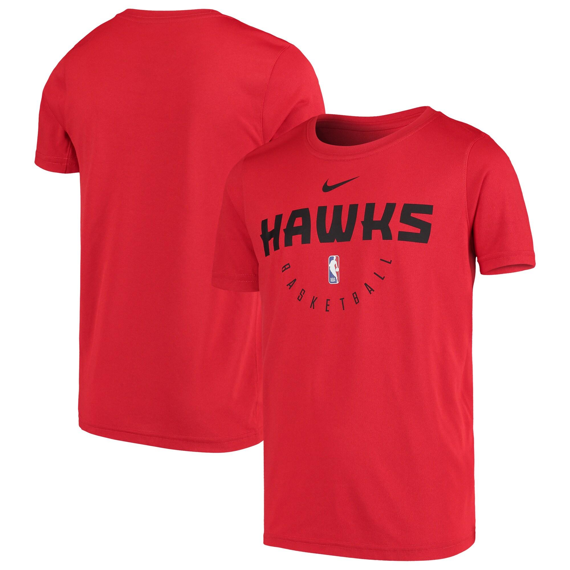 Atlanta Hawks Nike Youth Practice Logo Legend Performance T-Shirt - Red