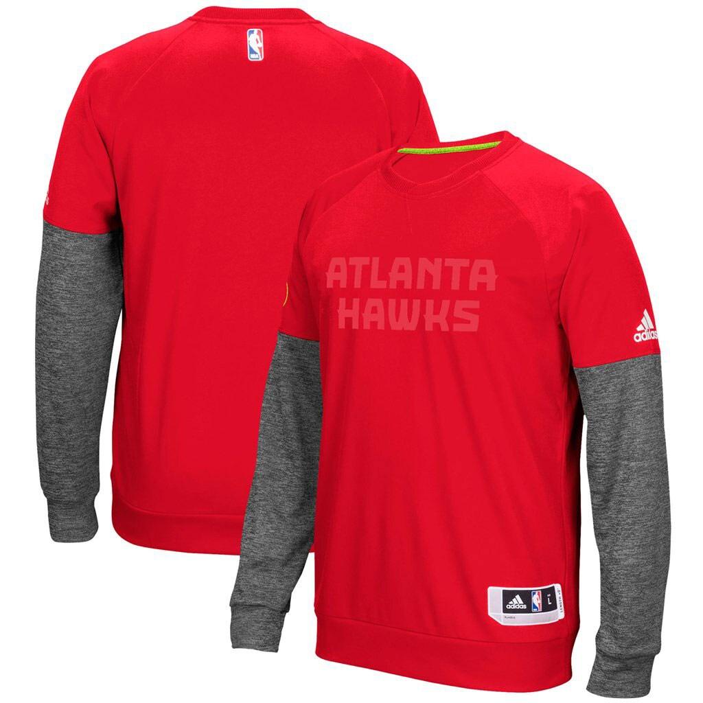 Atlanta Hawks adidas 2016 Christmas Day Second Half Pullover Sweatshirt - Red