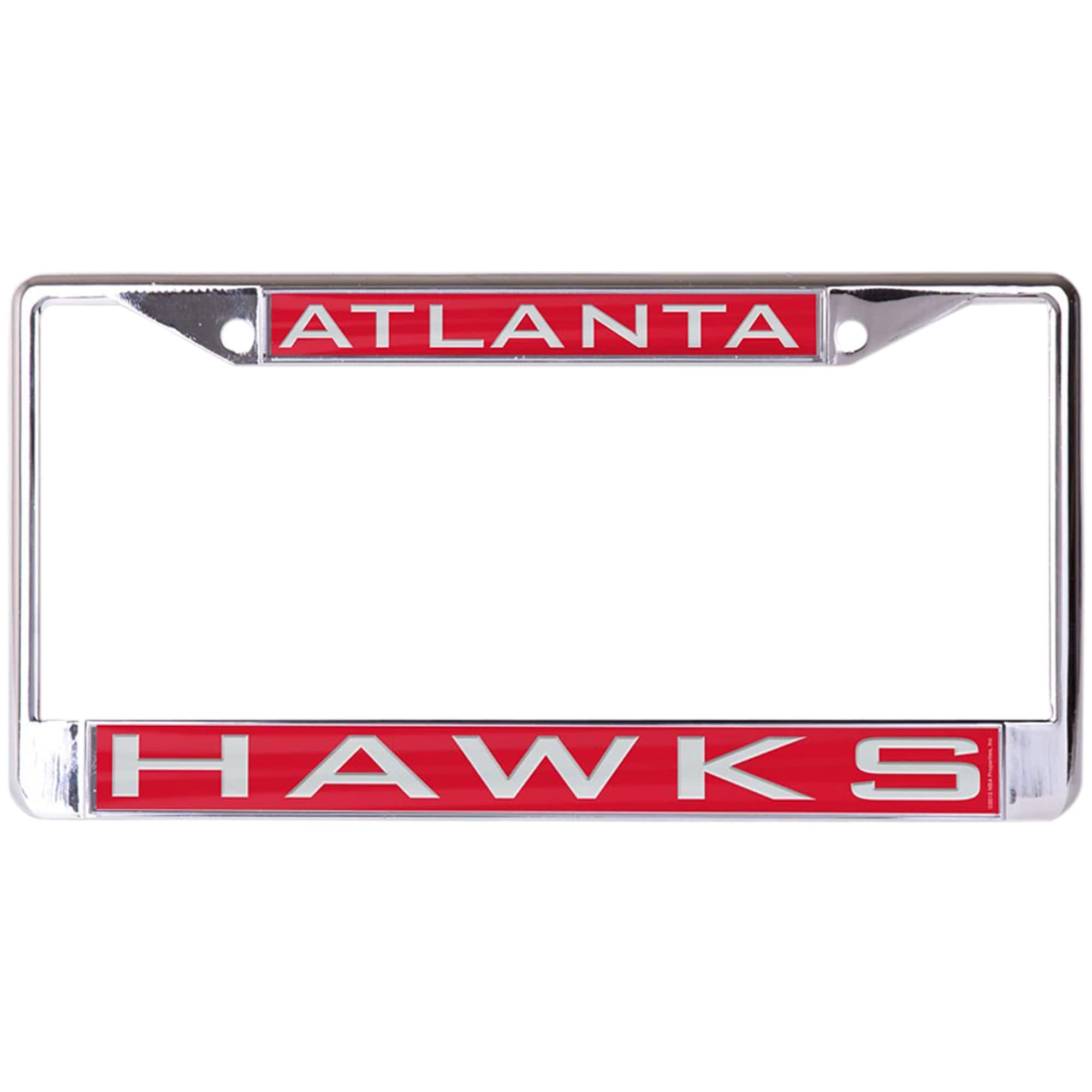 Atlanta Hawks WinCraft Laser Inlaid Metal License Plate Frame