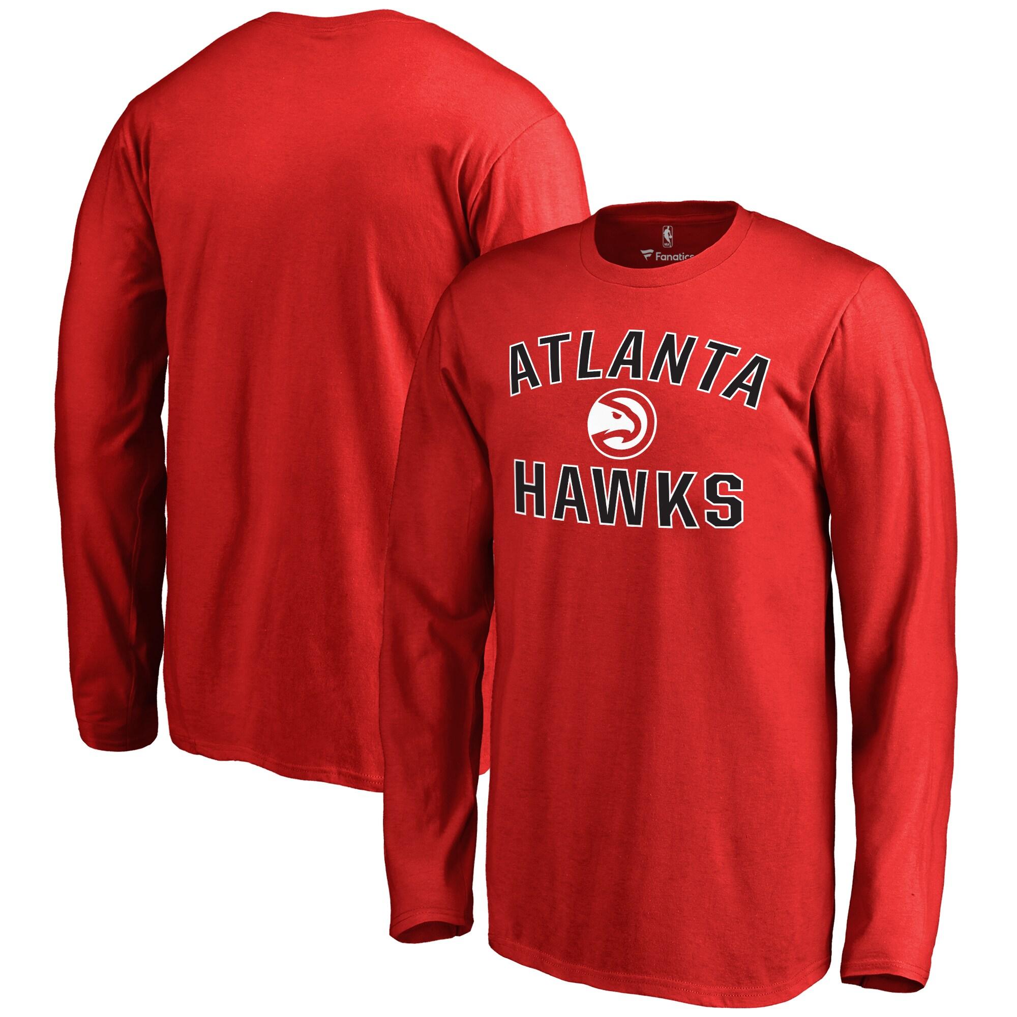 Atlanta Hawks Youth Victory Arch Long Sleeve T-Shirt - Red