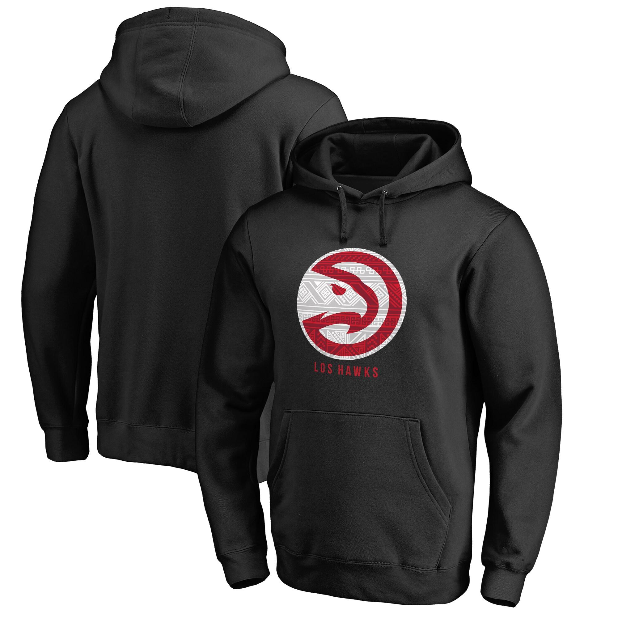 Atlanta Hawks Fanatics Branded 2017 Noches Éne-Bé-A Pullover Hoodie - Black