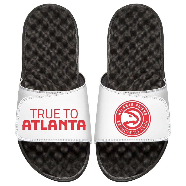 Atlanta Hawks ISlide Youth Team Playoff Slide Sandals - Black/White