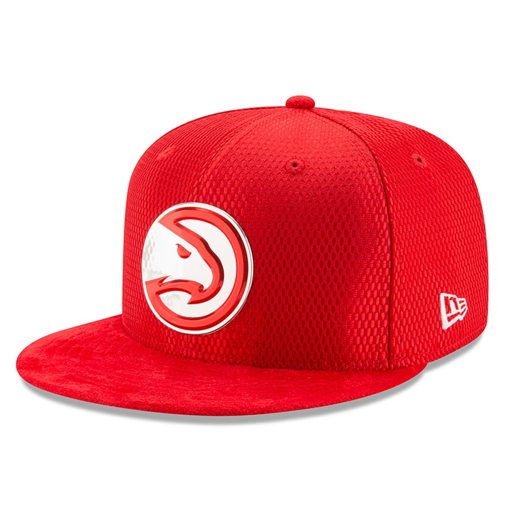 Atlanta Hawks New Era 2017 NBA Draft Official On Court Collection 59FIFTY Fitted Hat - Red