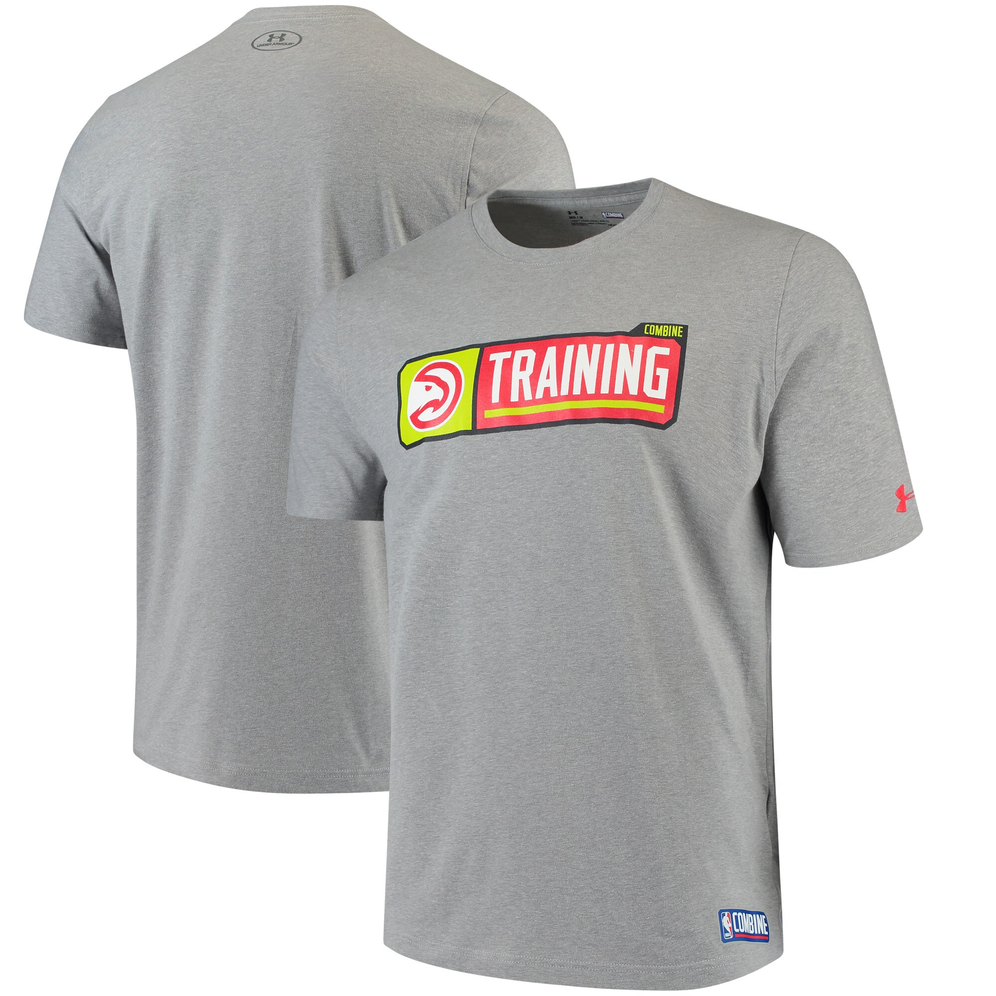 Atlanta Hawks Under Armour Authentic Pill Performance Tri-Blend T-Shirt - Red