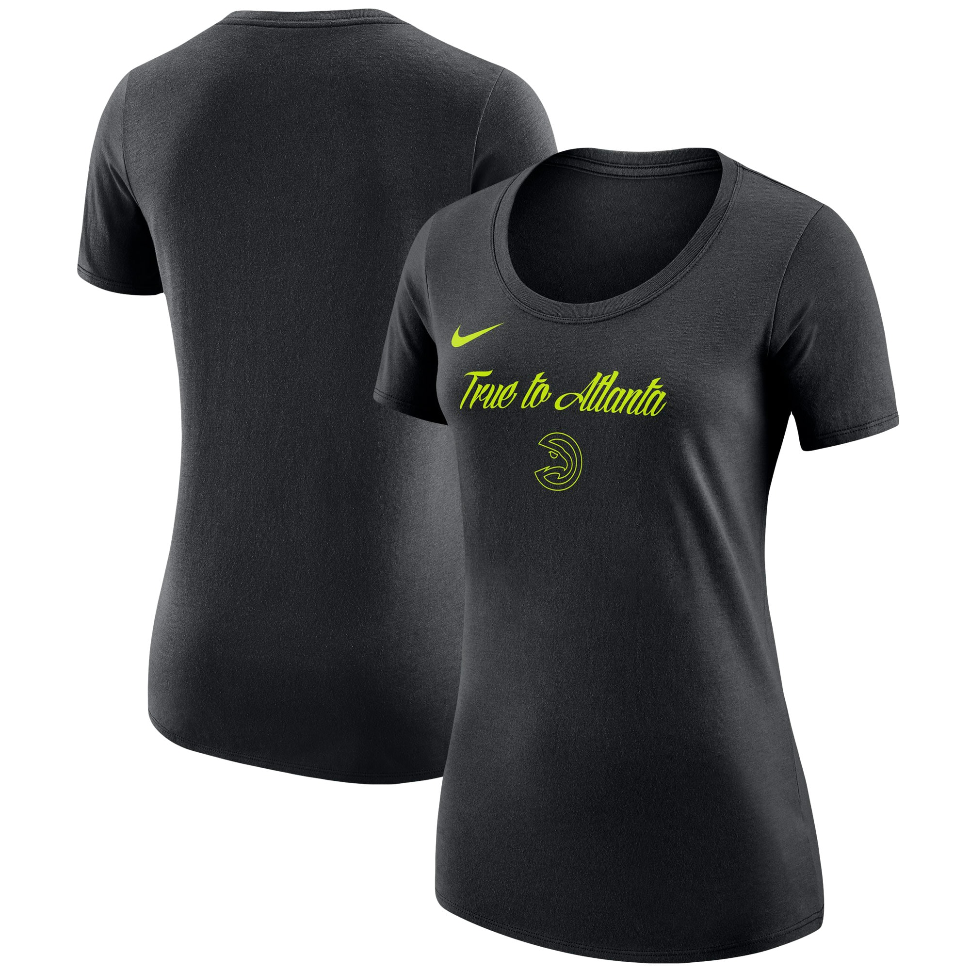 Atlanta Hawks Nike Women's City Edition Essential Team Performance T-Shirt - Black