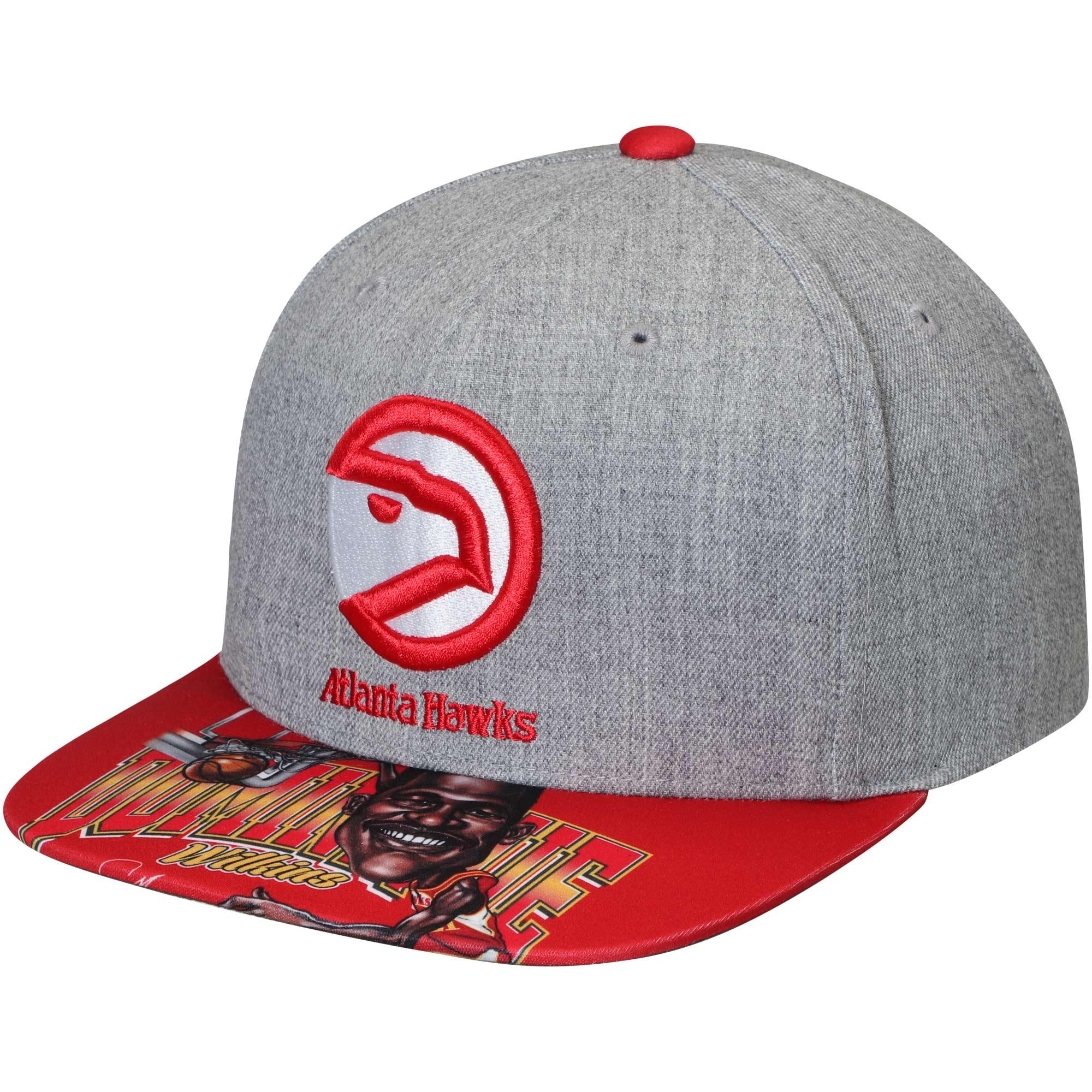 Dominique Wilkins Atlanta Hawks Mitchell & Ness Caricature Snapback Adjustable Hat - Gray