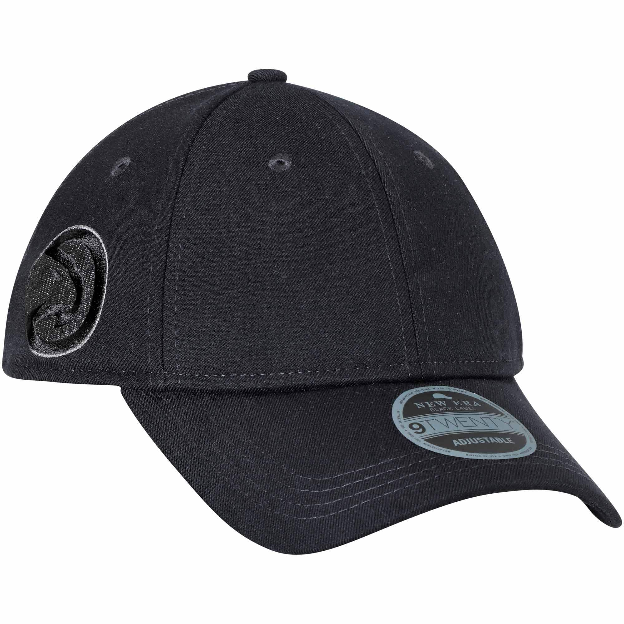 Atlanta Hawks New Era Black Label Series Suiting 9TWENTY Adjustable Hat - Black