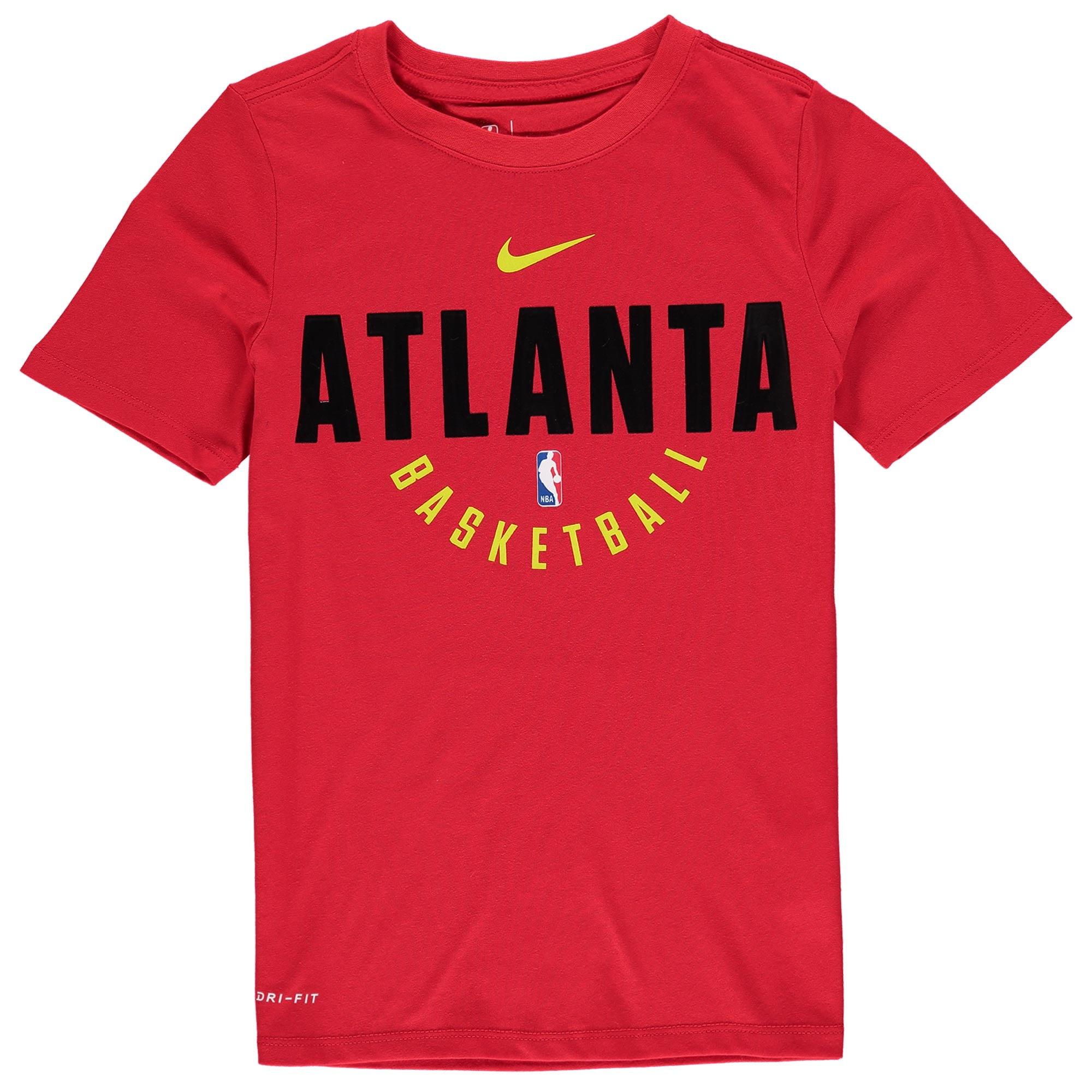 Atlanta Hawks Nike Youth Elite Practice Performance T-Shirt - Red