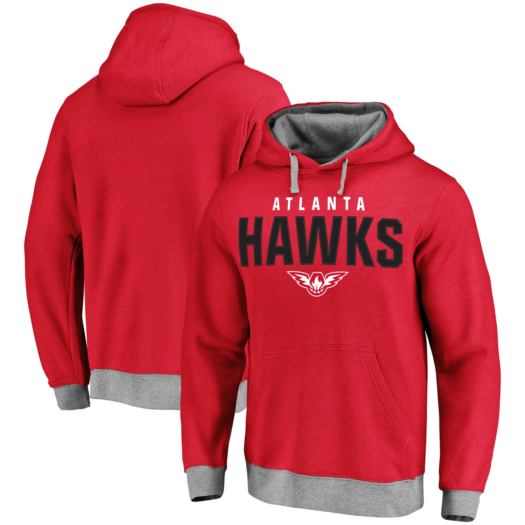 Atlanta Hawks Essentials Clean Color Logo Pullover Hoodie - Red