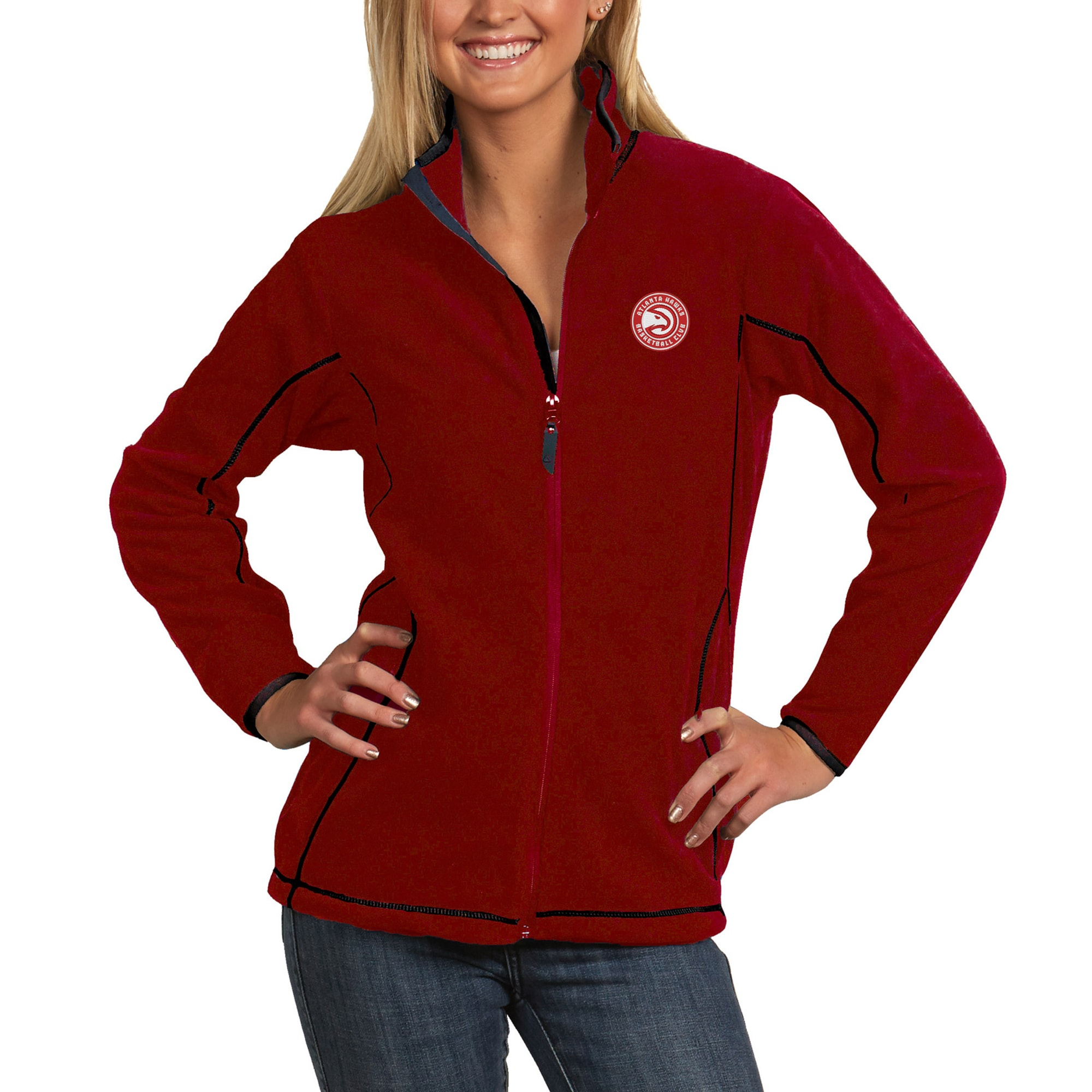 Atlanta Hawks Antigua Women's Ice Full-Zip Jacket - Red