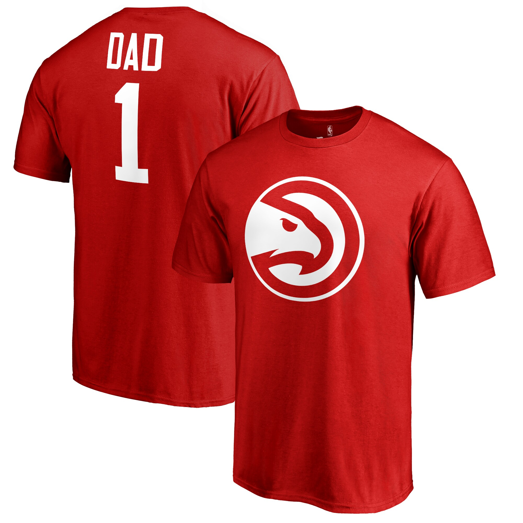 Atlanta Hawks #1 Dad T-Shirt - Red
