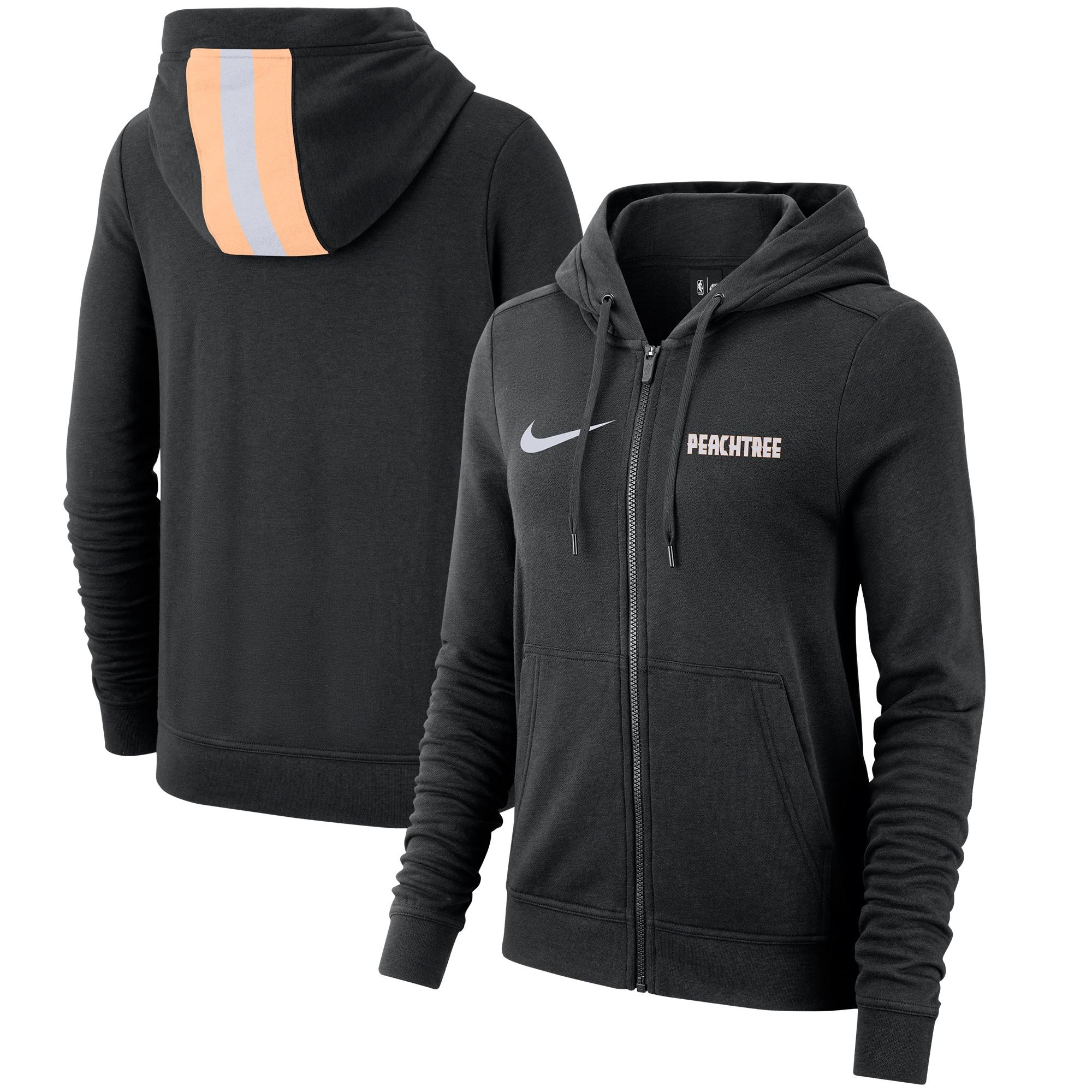 Atlanta Hawks Nike Women's 2019/20 City Edition Full-Zip Hoodie - Black