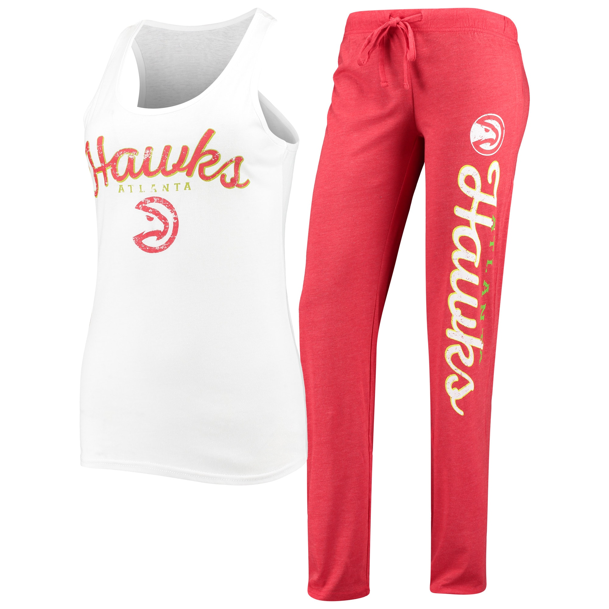 Atlanta Hawks Concepts Sport Women's Topic Tank Top & Pants Sleep Set - White/Red