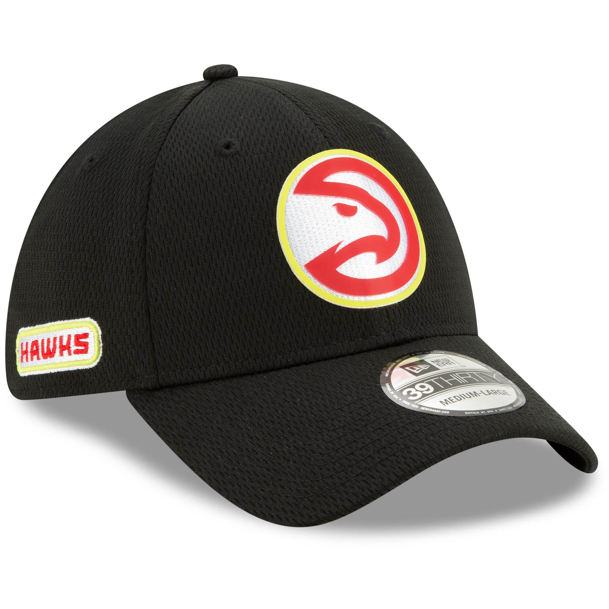 Atlanta Hawks New Era Official Back Half 39THIRTY Flex Hat - Black