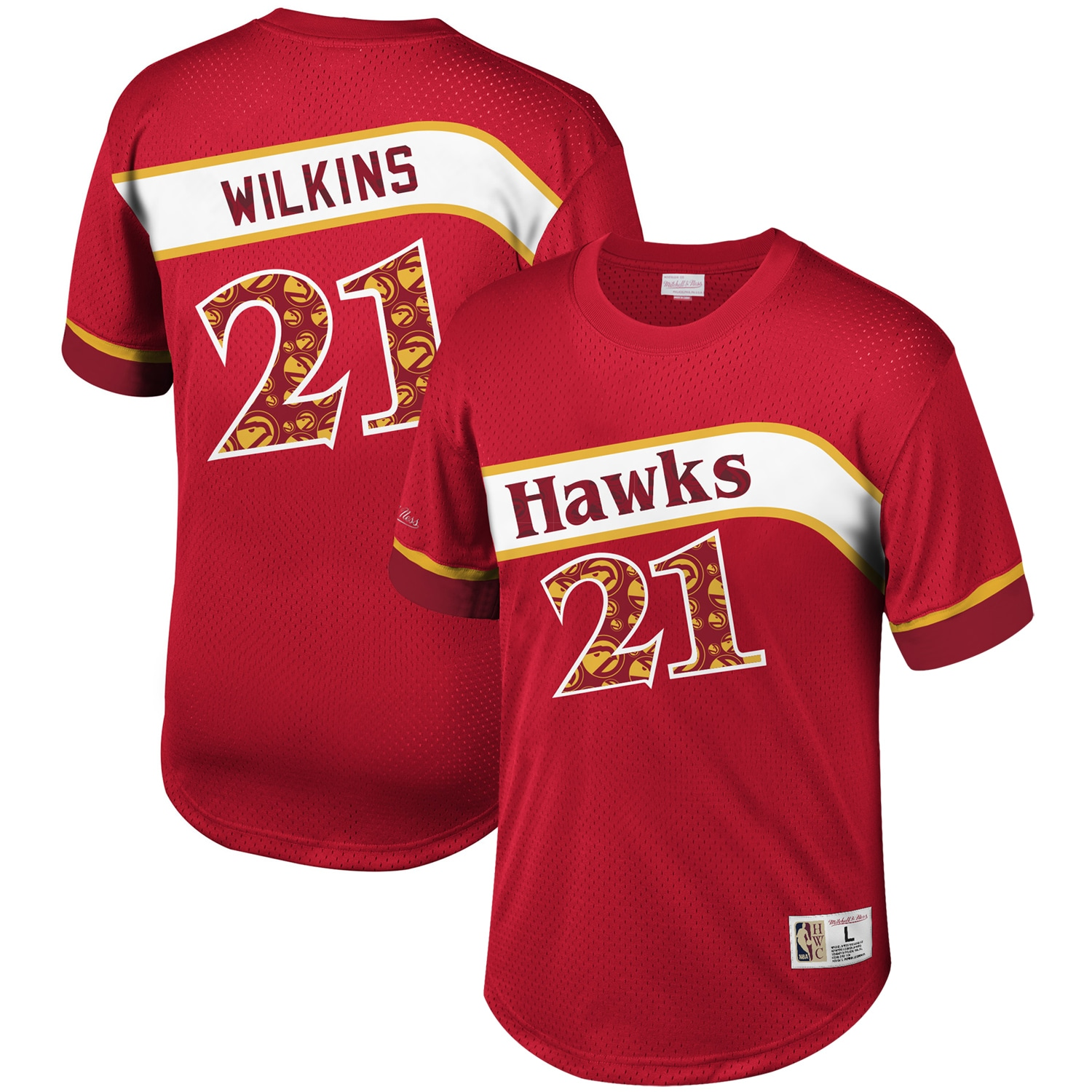 Dominique Wilkins Atlanta Hawks Mitchell & Ness Player Name & Number T-Shirt - Red