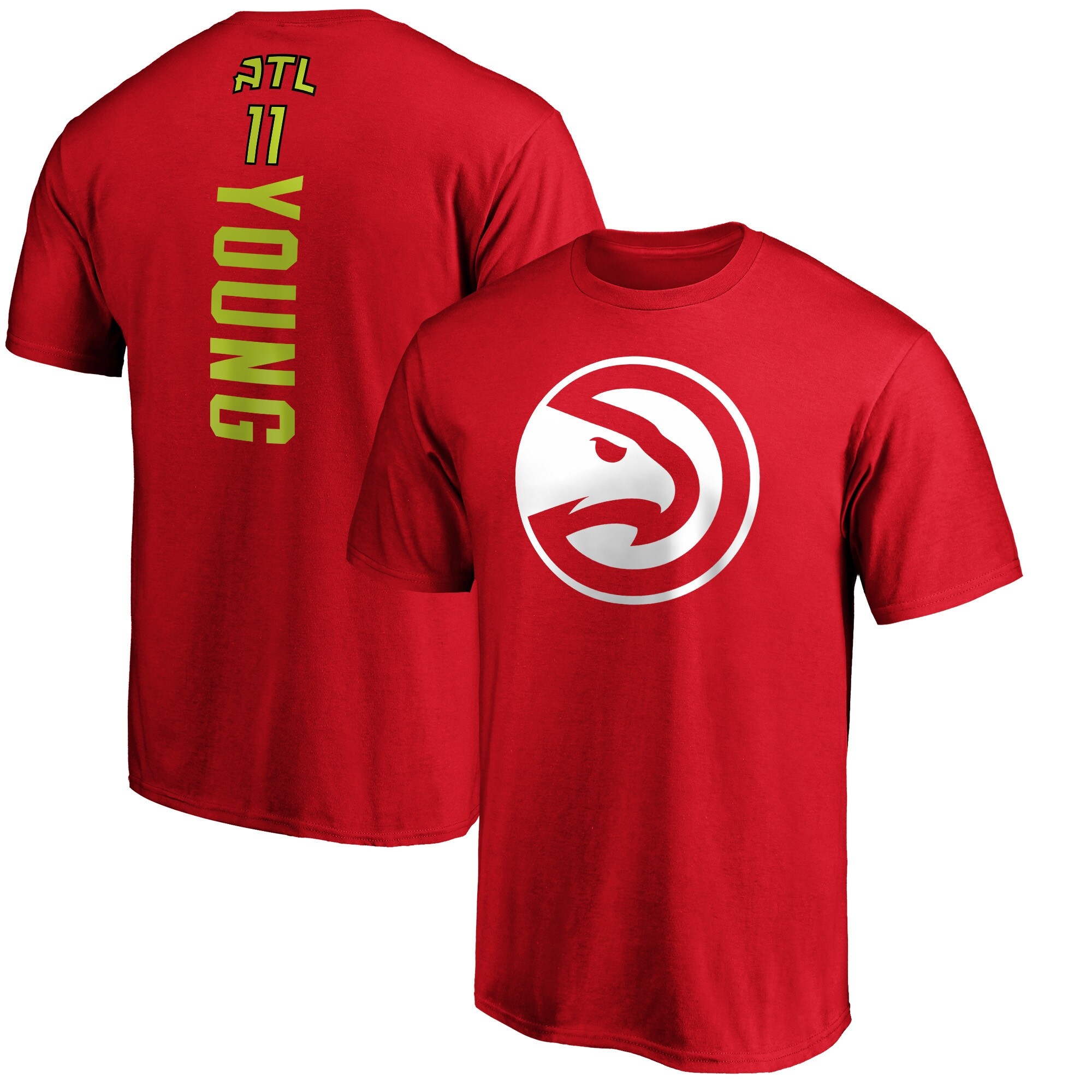 Trae Young Atlanta Hawks Fanatics Branded Team Playmaker Name & Number T-Shirt - Red