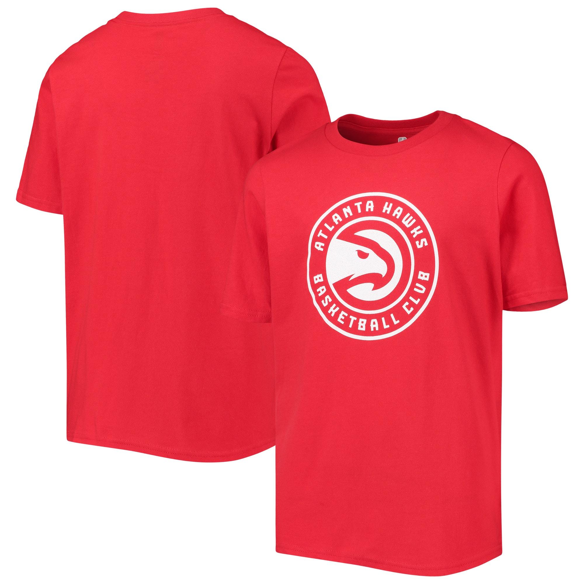 Atlanta Hawks Youth Primary Logo T-Shirt - Red