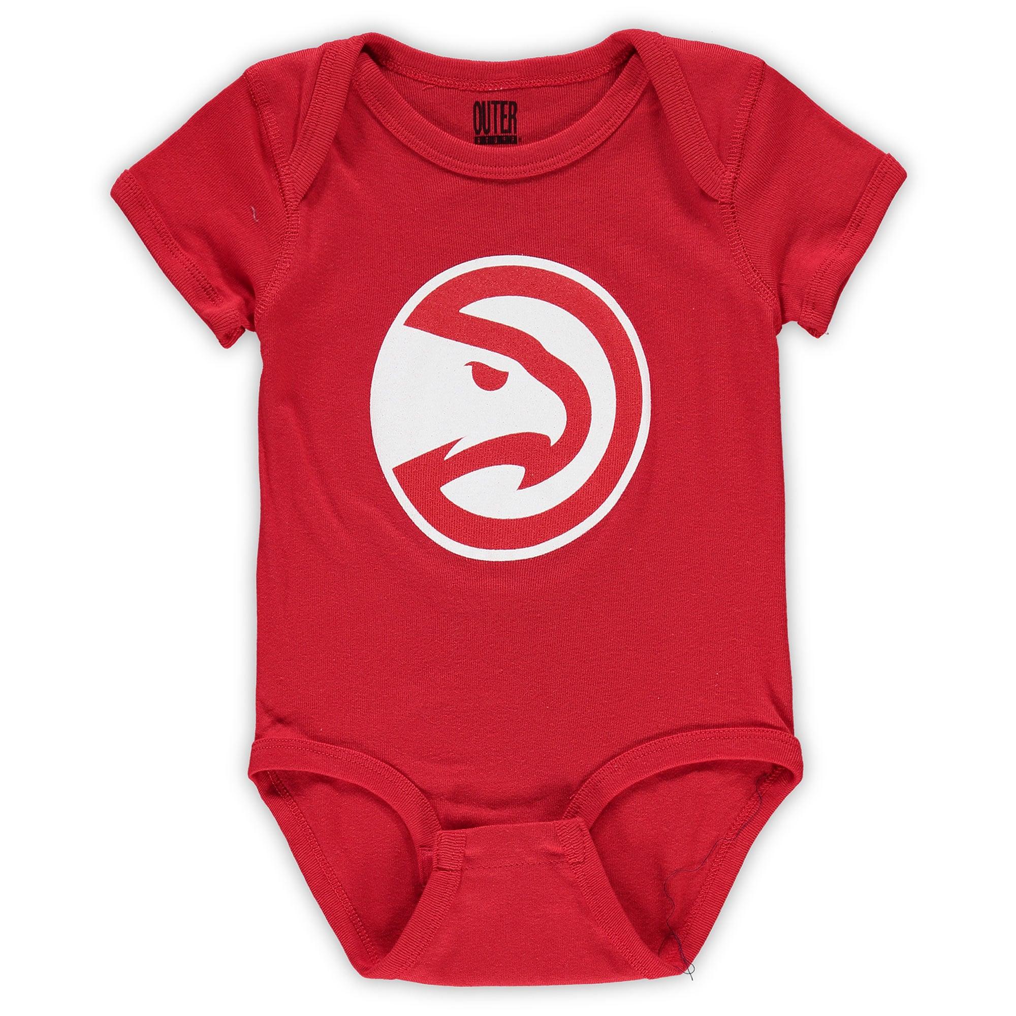 Atlanta Hawks Infant Primary Team Logo Bodysuit - Red