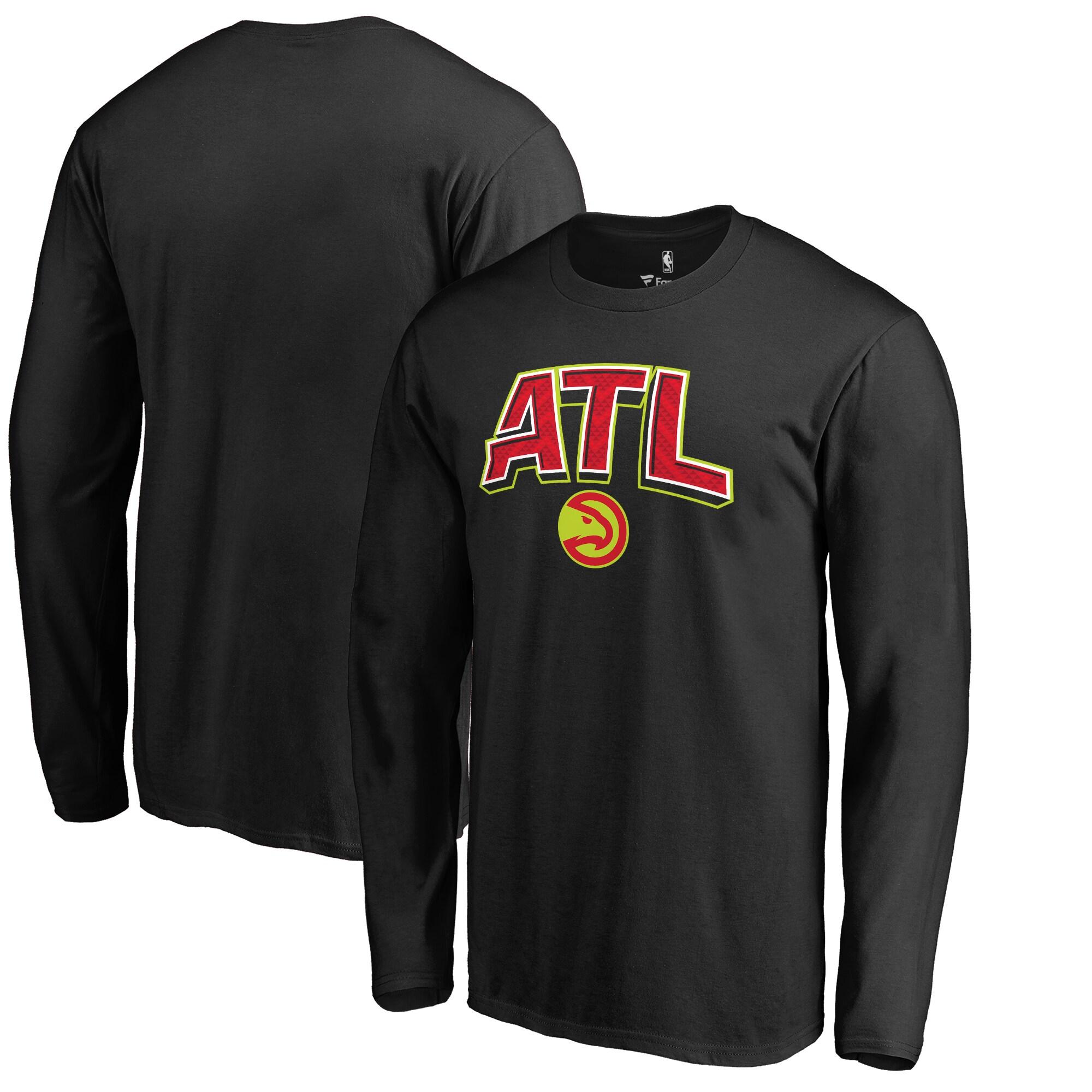 Atlanta Hawks Fanatics Branded Big & Tall ATL Hometown Collection Long Sleeve T-Shirt - Black