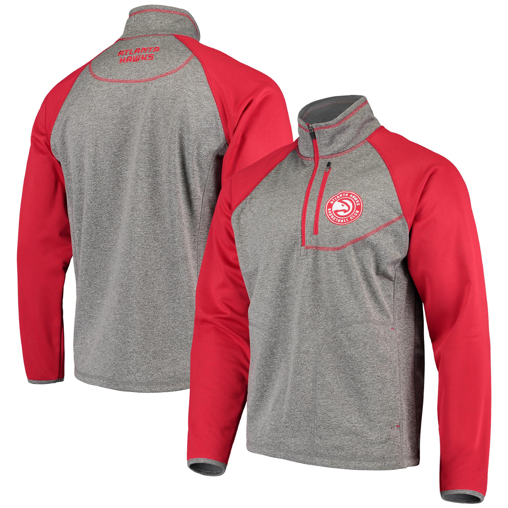 Atlanta Hawks G-III Sports by Carl Banks Mountain Trail Half-Zip Pullover Jacket - Gray/Red