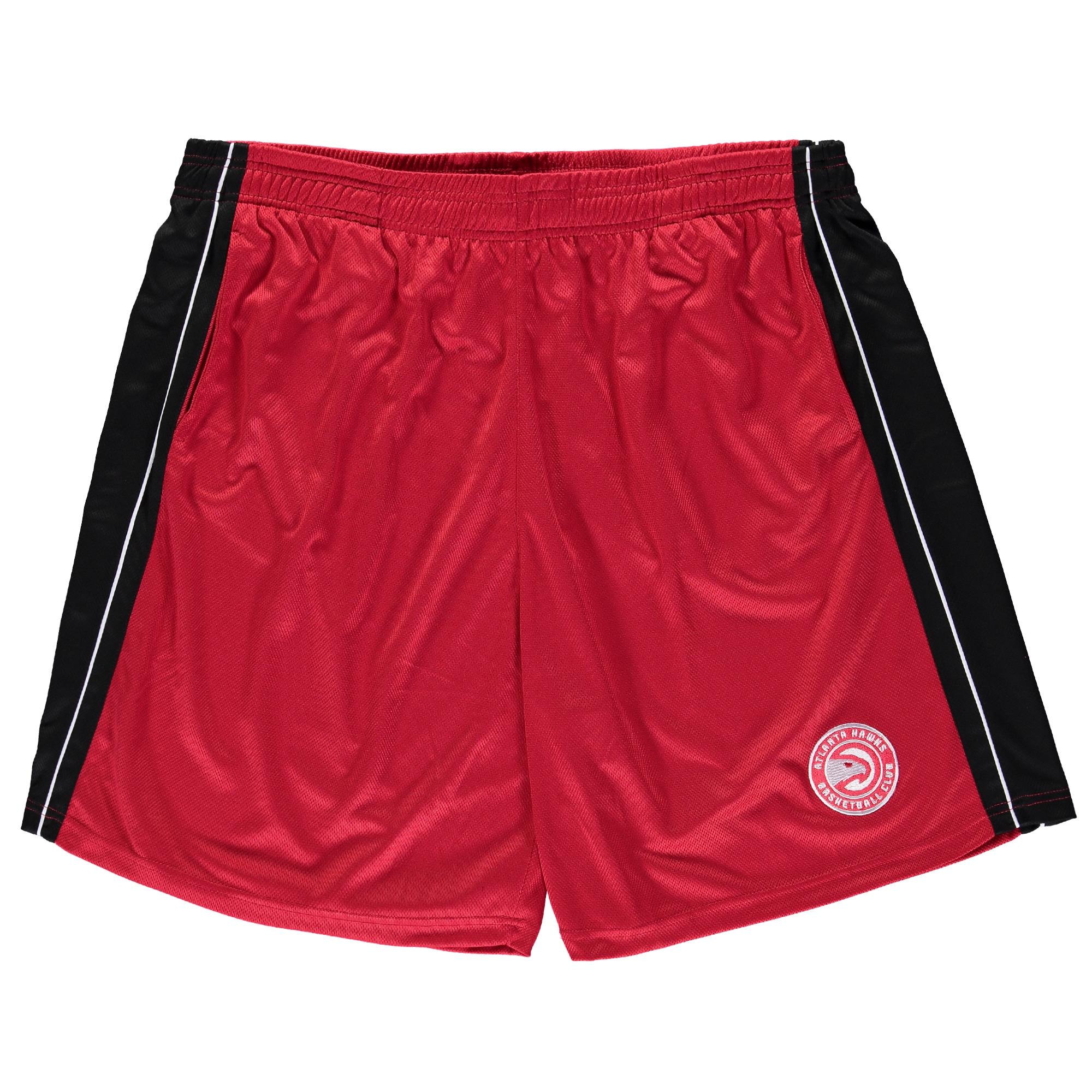 Atlanta Hawks Majestic Big & Tall Birdseye Shorts - Red/Black