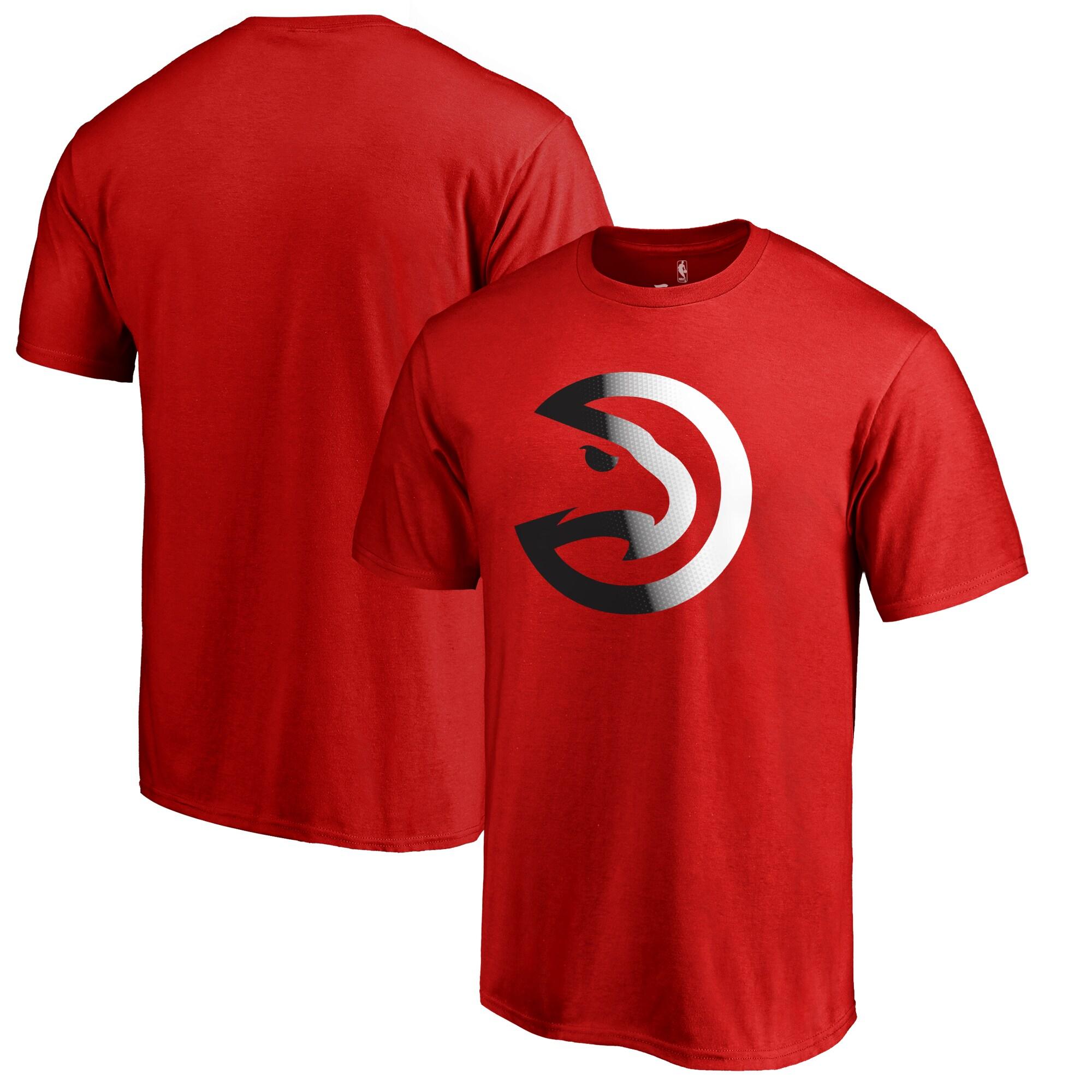 Atlanta Hawks Fanatics Branded Big & Tall Gradient Logo T-Shirt - Red