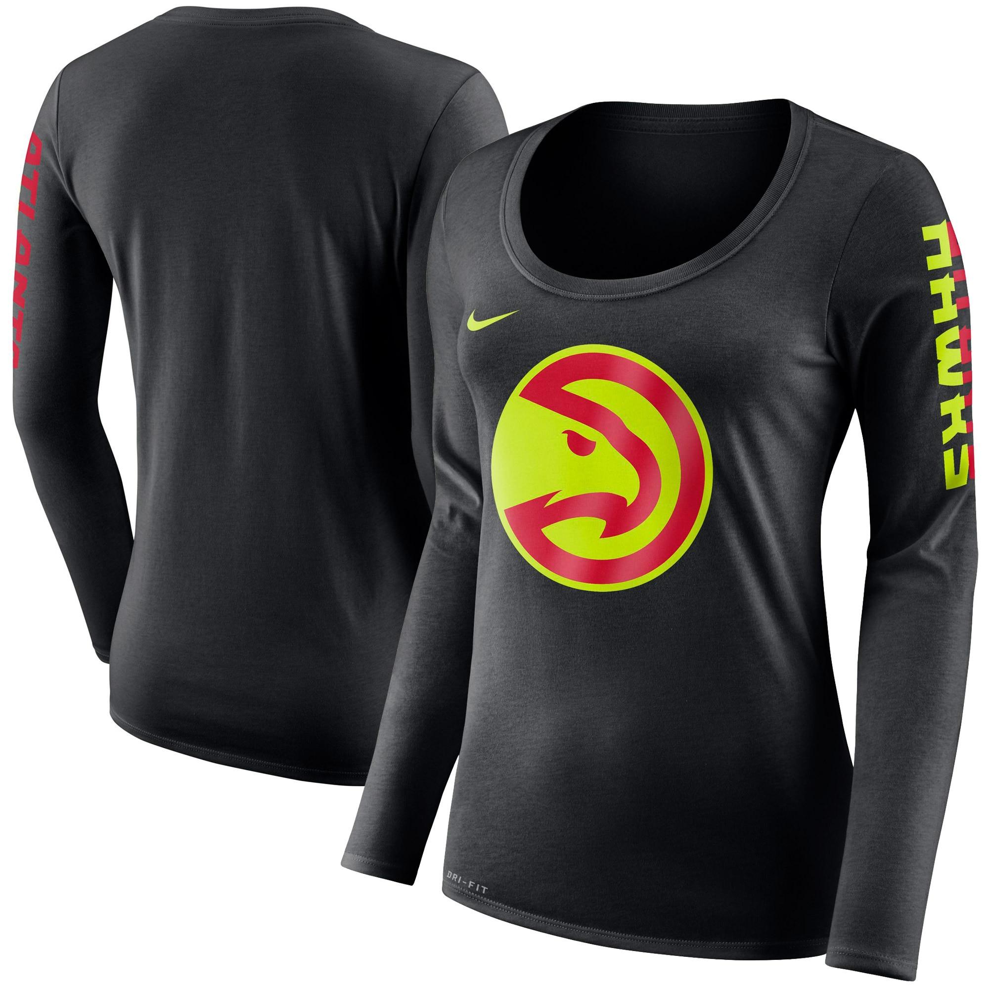 Atlanta Hawks Nike Women's Primary Logo Long-Sleeve T-Shirt - Black