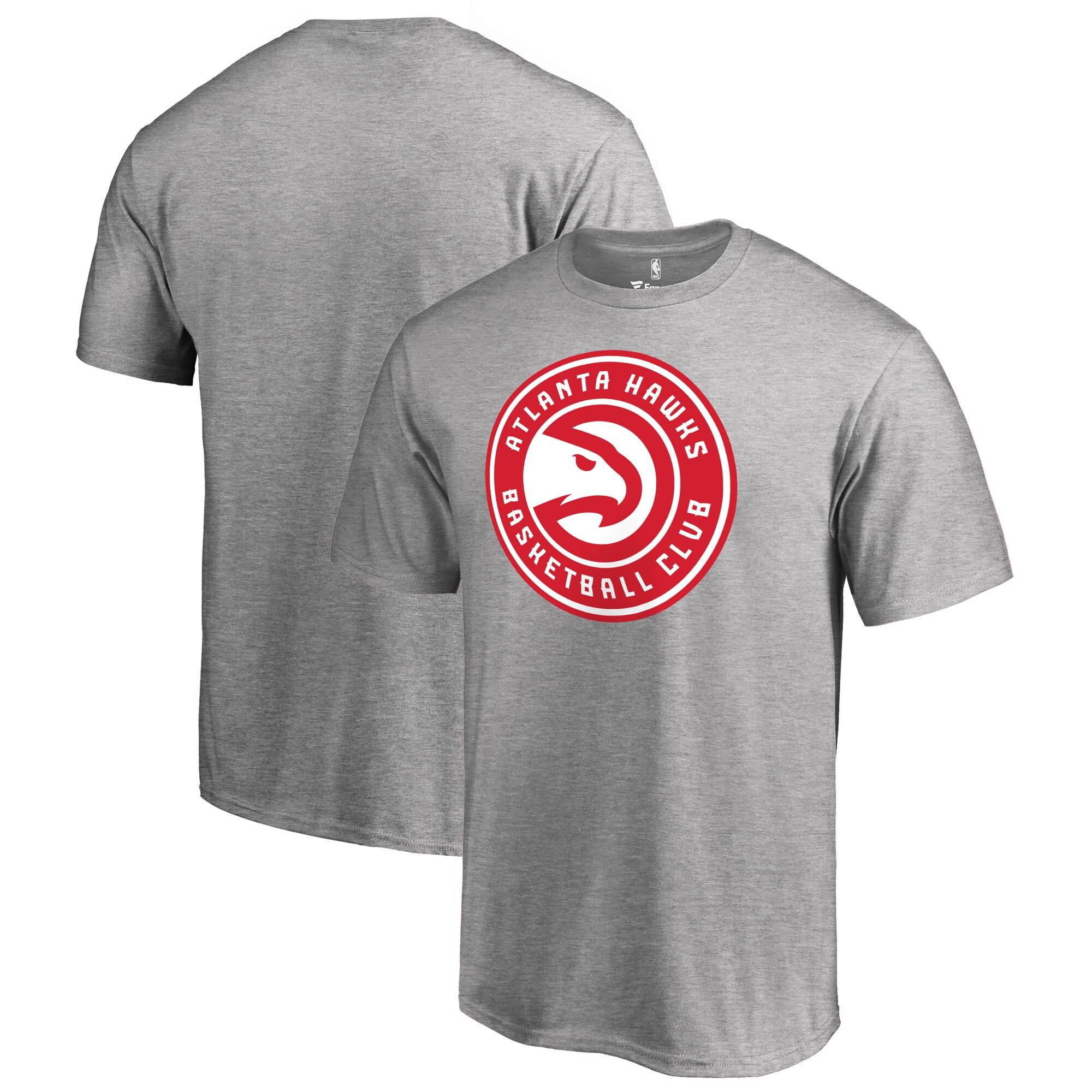 Atlanta Hawks Fanatics Branded Big & Tall Primary Logo T-Shirt - Ash