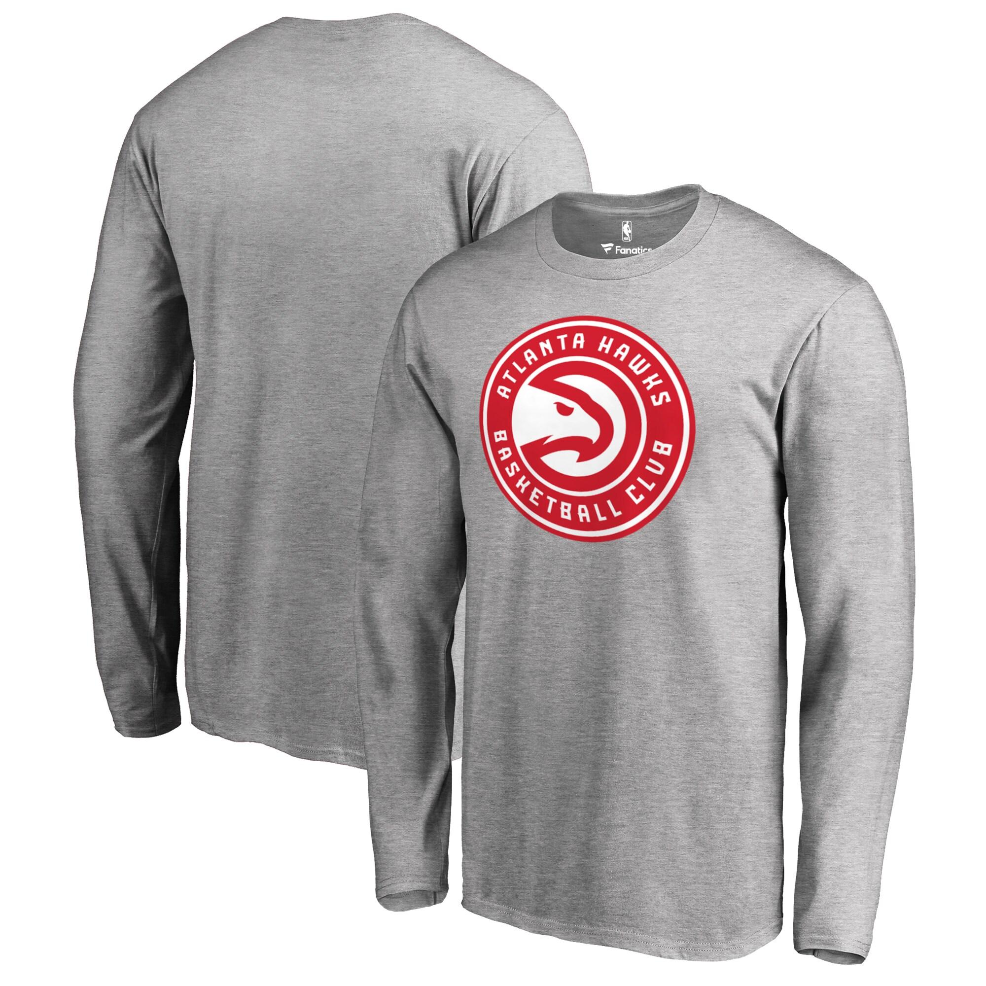Atlanta Hawks Fanatics Branded Big & Tall Primary Logo Long Sleeve T-Shirt - Ash
