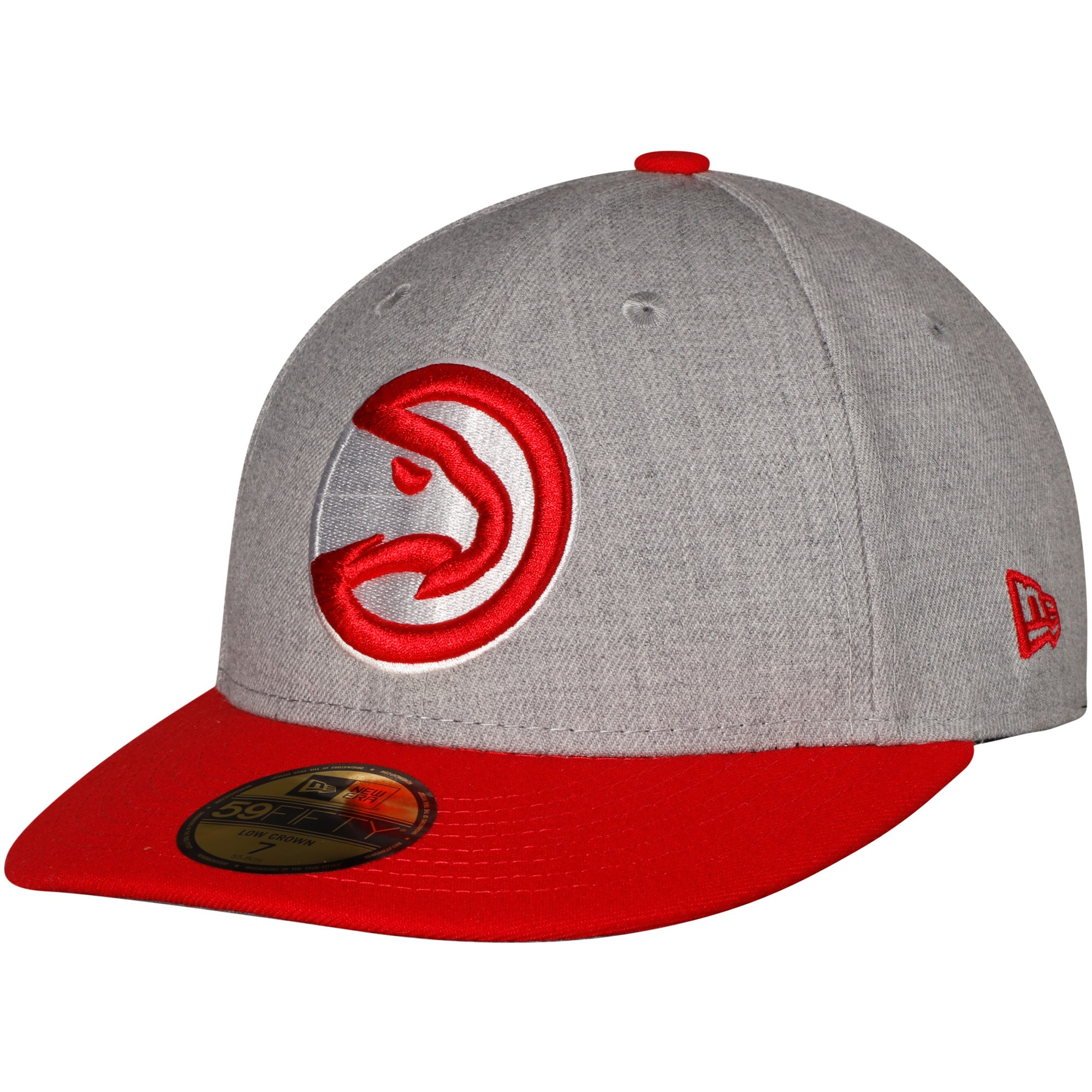 Atlanta Hawks New Era Two-Tone Low Profile 59FIFTY Fitted Hat - Heathered Gray/Red