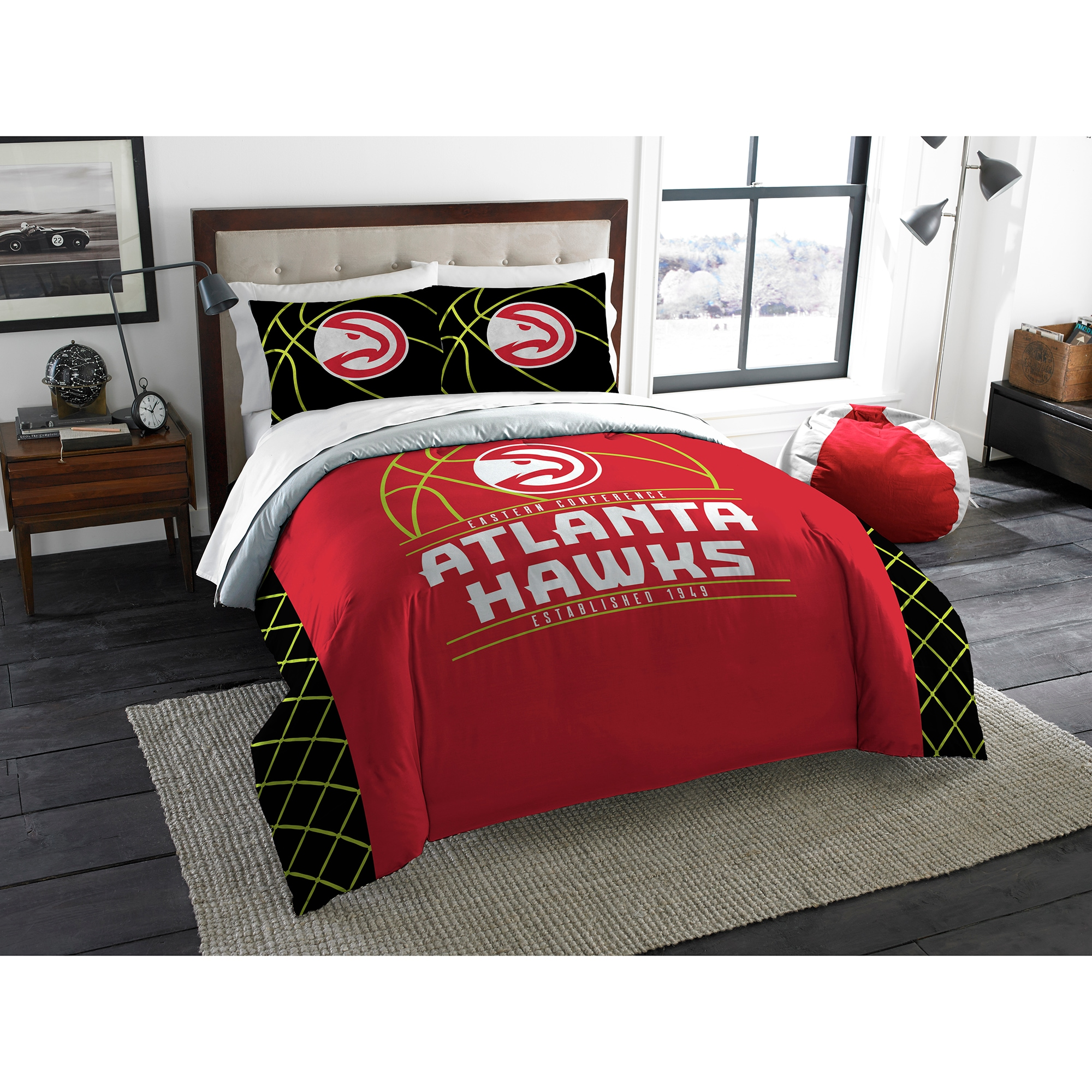 Atlanta Hawks The Northwest Company Reverse Slam Full/Queen Comforter Set