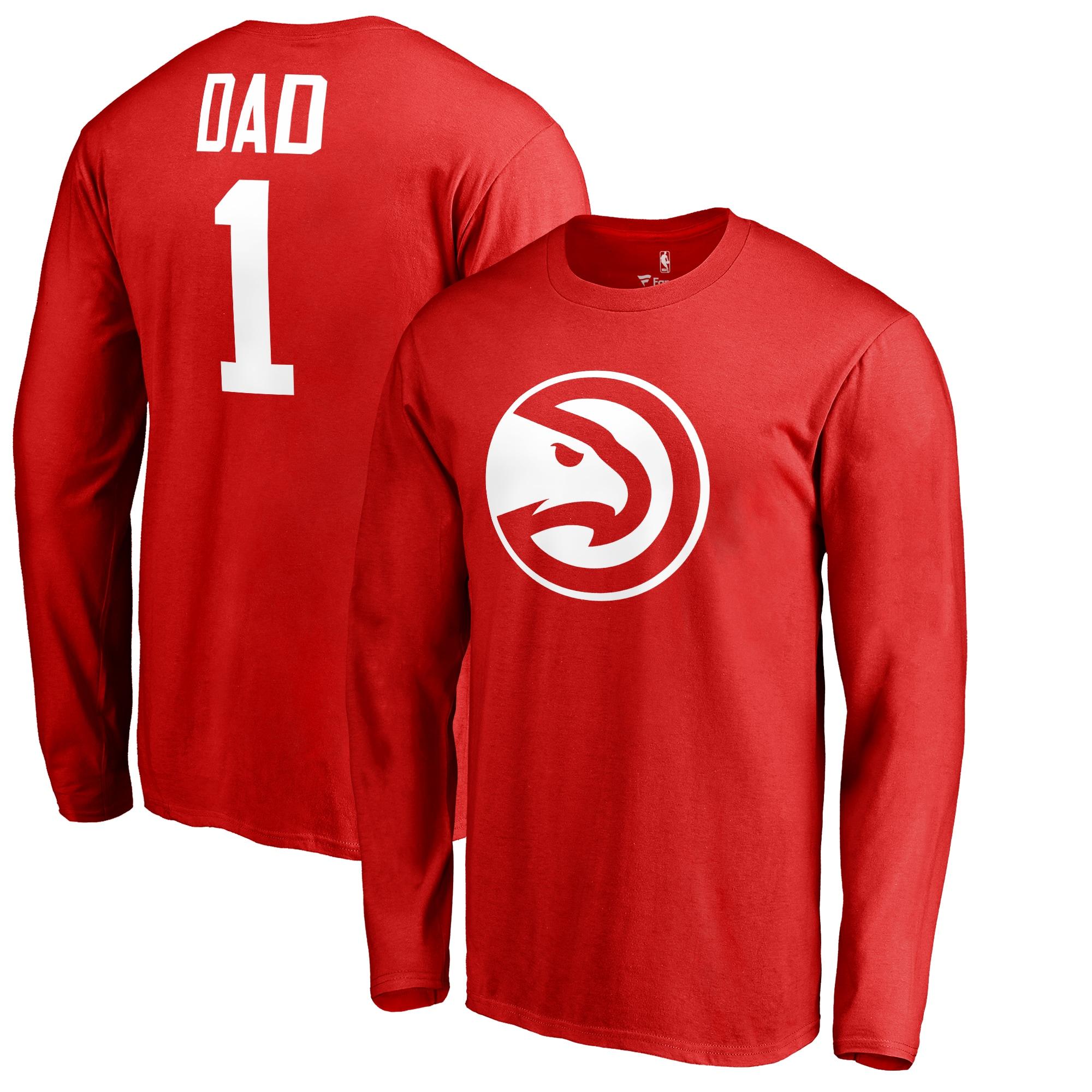 Atlanta Hawks Fanatics Branded Big & Tall #1 Dad Long Sleeve T-Shirt - Red