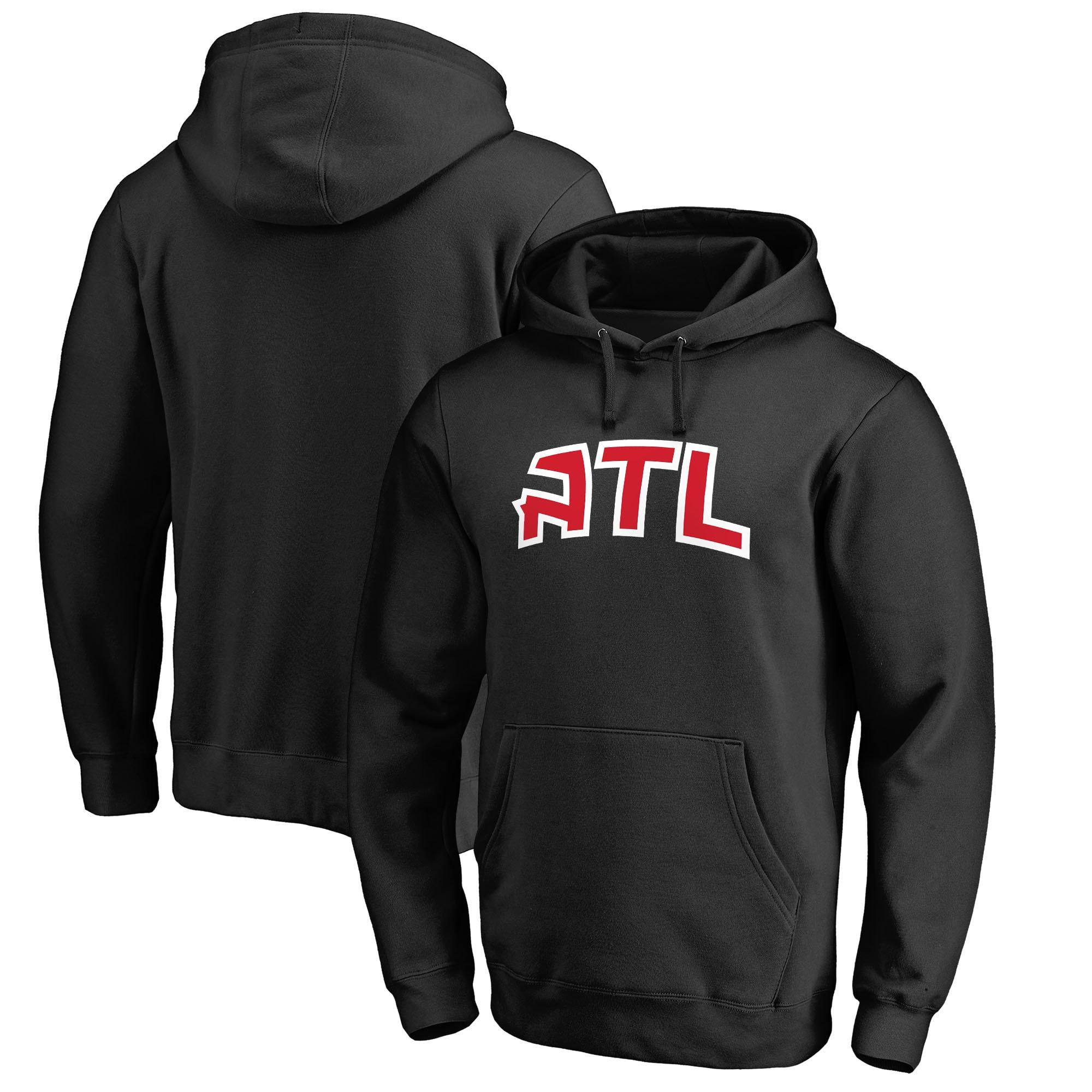 Atlanta Hawks Fanatics Branded Alternate Logo Pullover Hoodie - Black