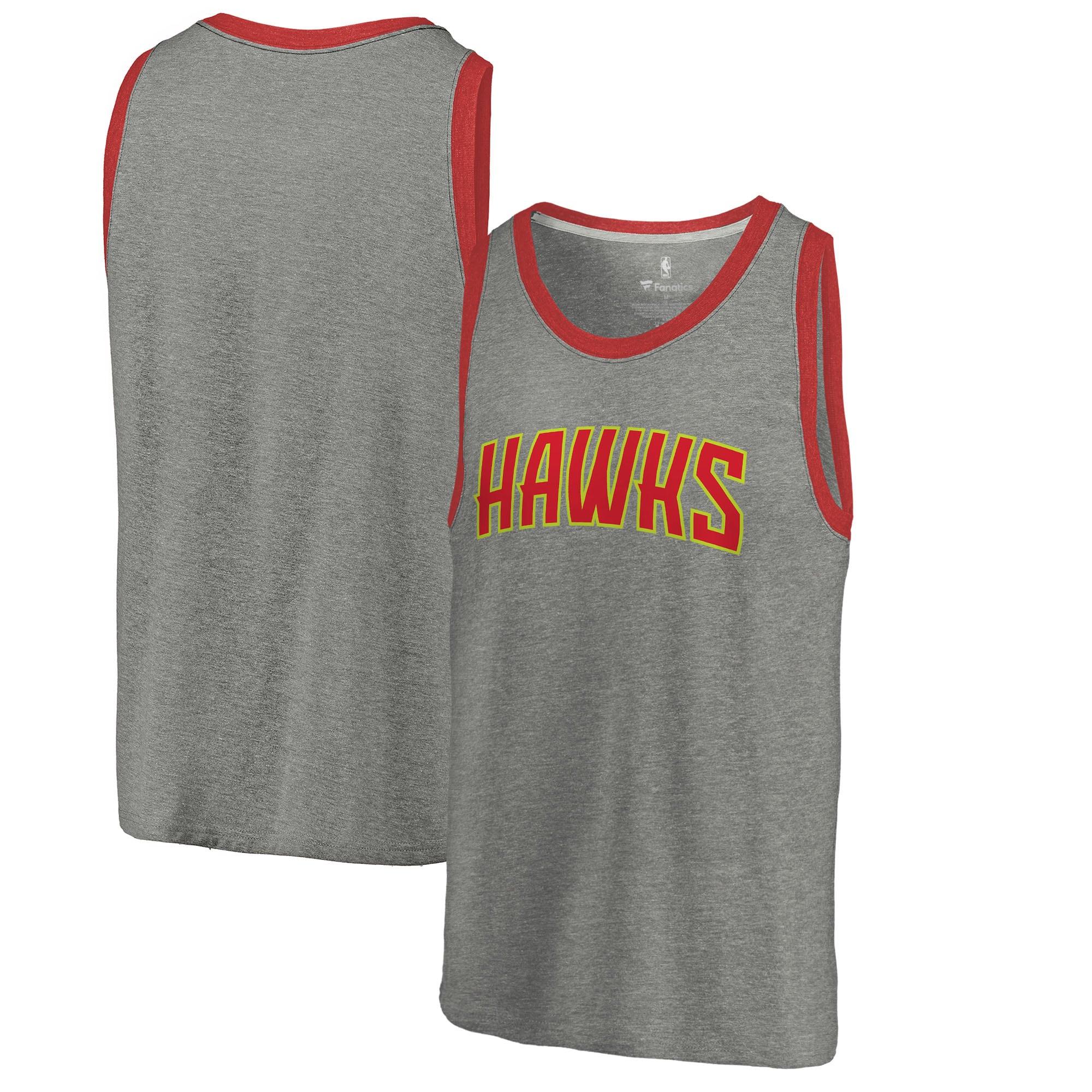Atlanta Hawks Fanatics Branded Wordmark Tri-Blend Tank Top - Heathered Gray