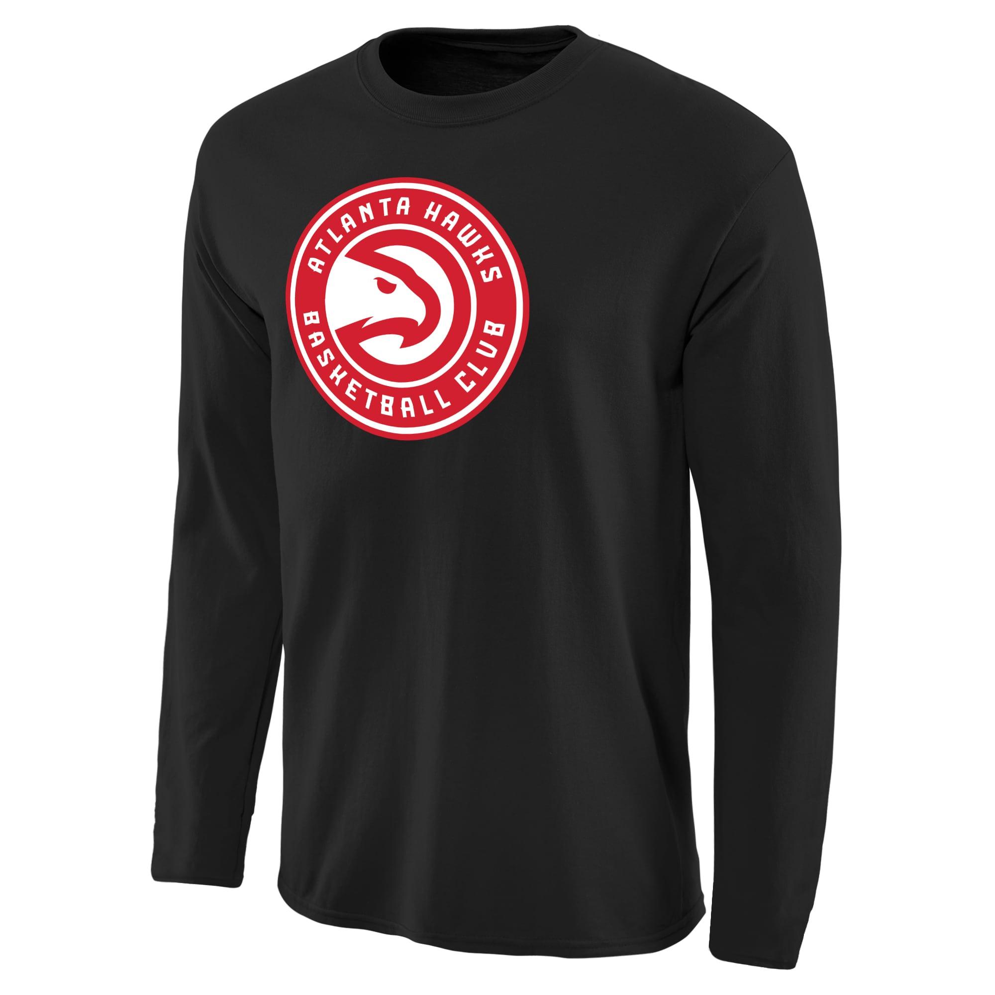 Atlanta Hawks Primary Logo Long Sleeve T-Shirt - Black