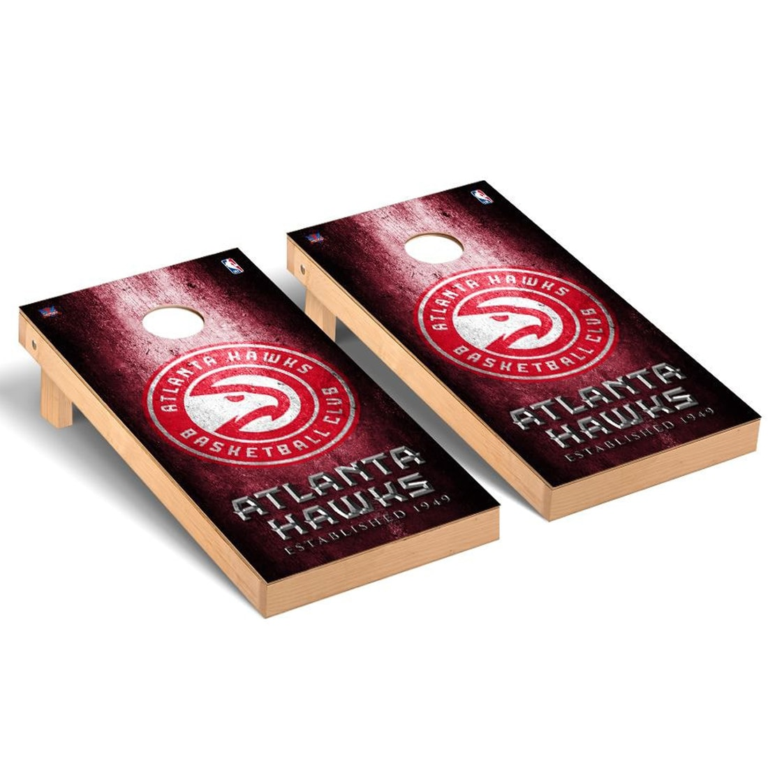 Atlanta Hawks 2' x 4' Metal Design Cornhole Game Set