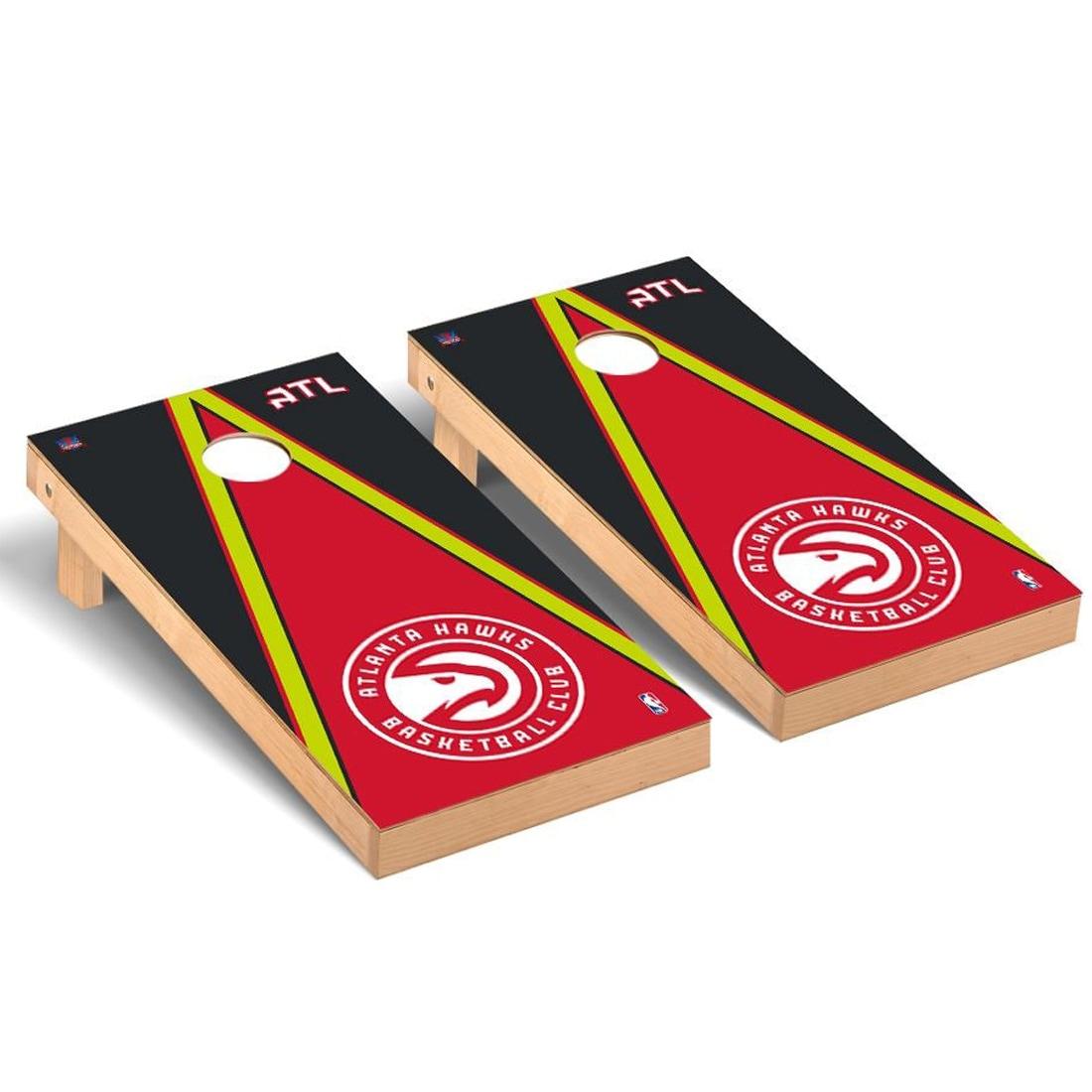 Atlanta Hawks 2' x 4' Triangle Museum Cornhole Board Tailgate Toss Set