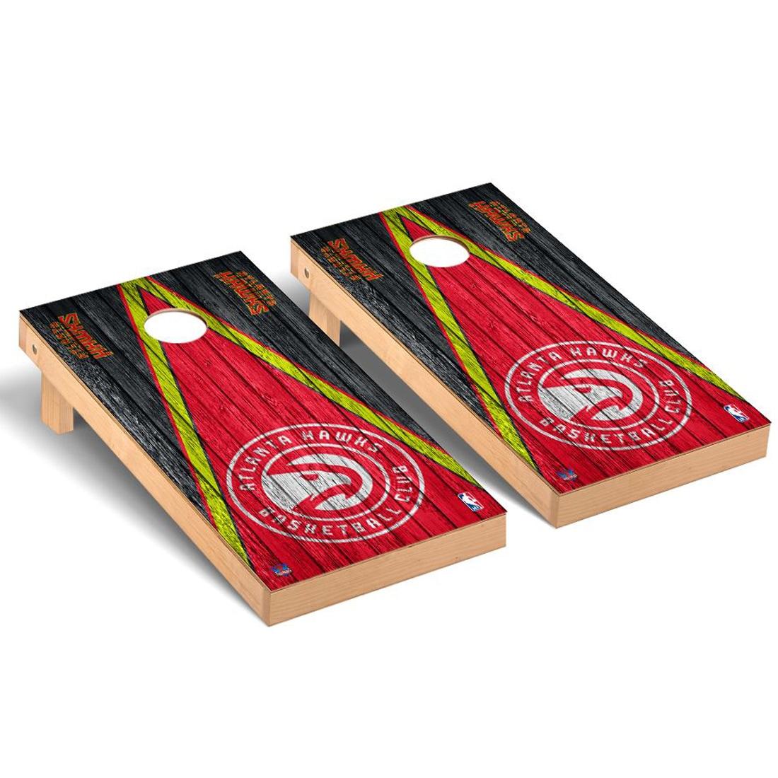 Atlanta Hawks 2' x 4' Weathered Museum Cornhole Board Tailgate Toss Set