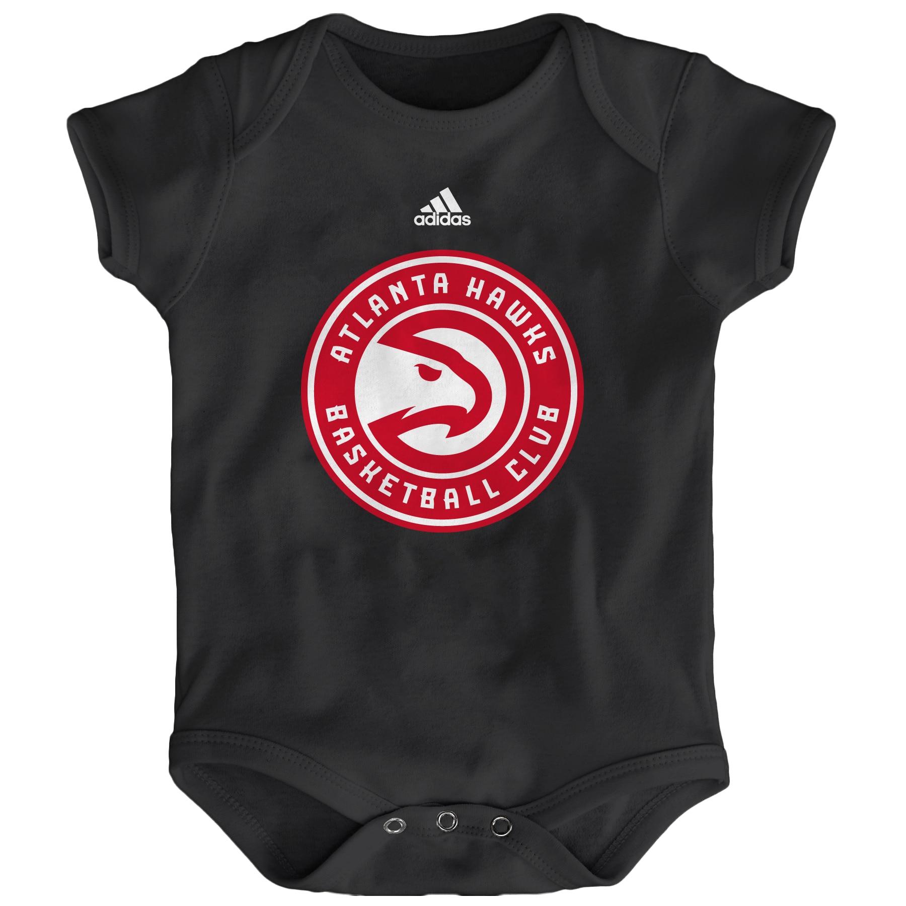 Atlanta Hawks adidas Newborn Primary Logo Bodysuit - Black