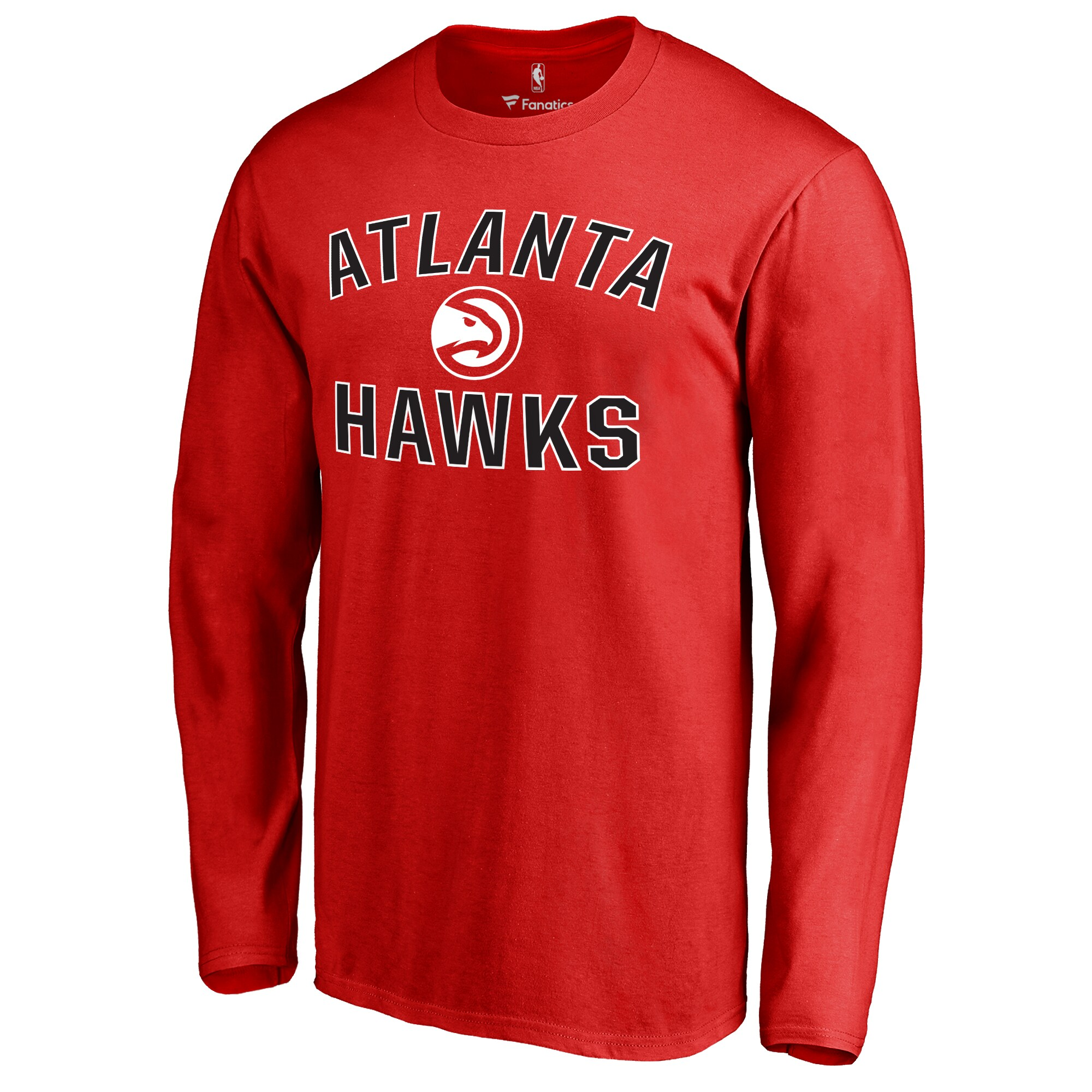 Atlanta Hawks Big & Tall Victory Arch Long Sleeve T-Shirt - Red