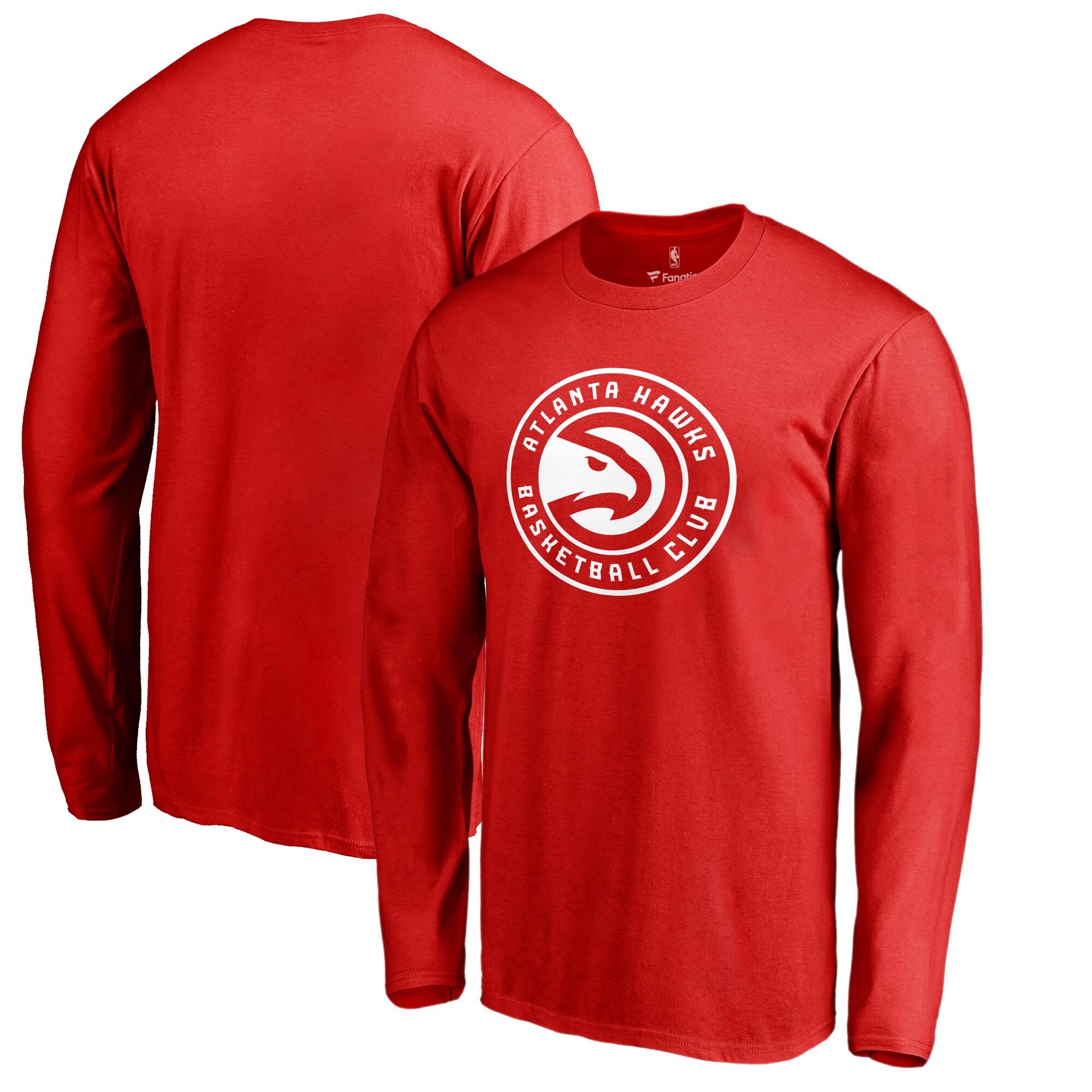 Atlanta Hawks Fanatics Branded Big & Tall Primary Logo Long Sleeve T-Shirt - Red