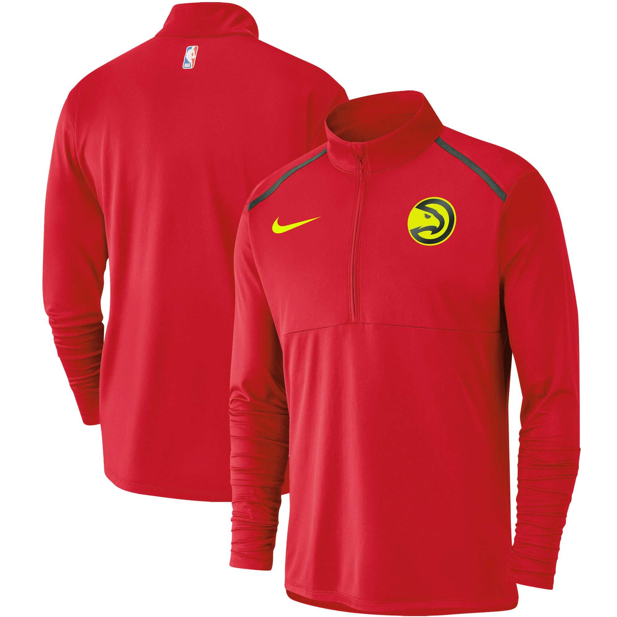 Atlanta Hawks Nike Element Performance Half-Zip Pullover Jacket - Red
