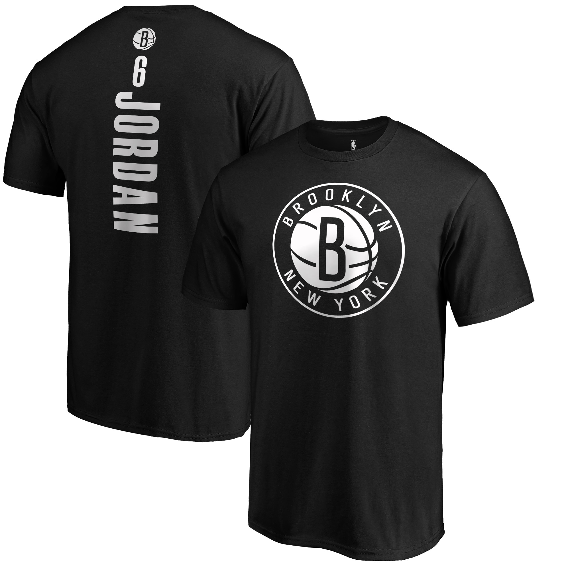 DeAndre Jordan Brooklyn Nets Fanatics Branded Playmaker Name & Number T-Shirt - Black