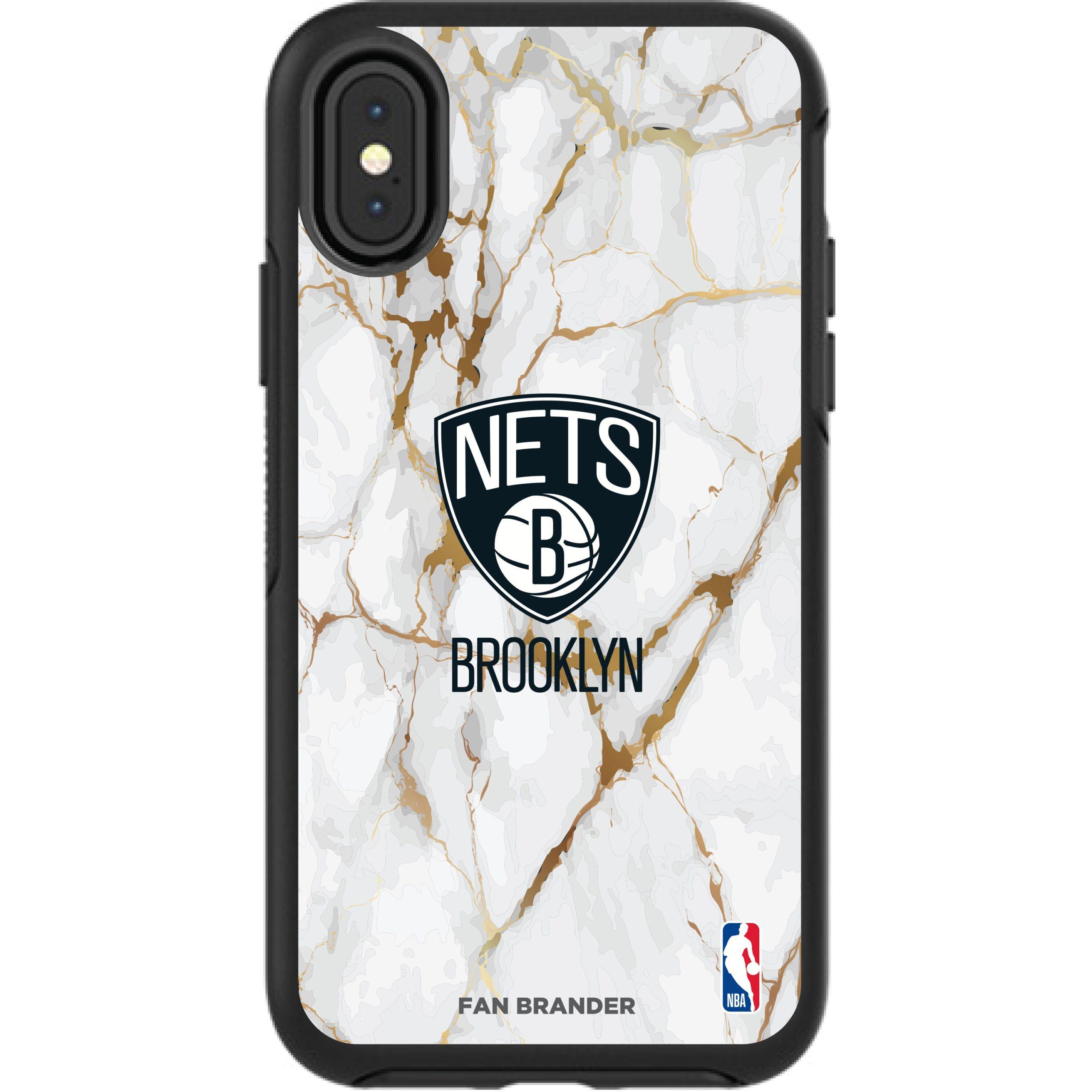 Brooklyn Nets iPhone Symmetry Marble Case - Black