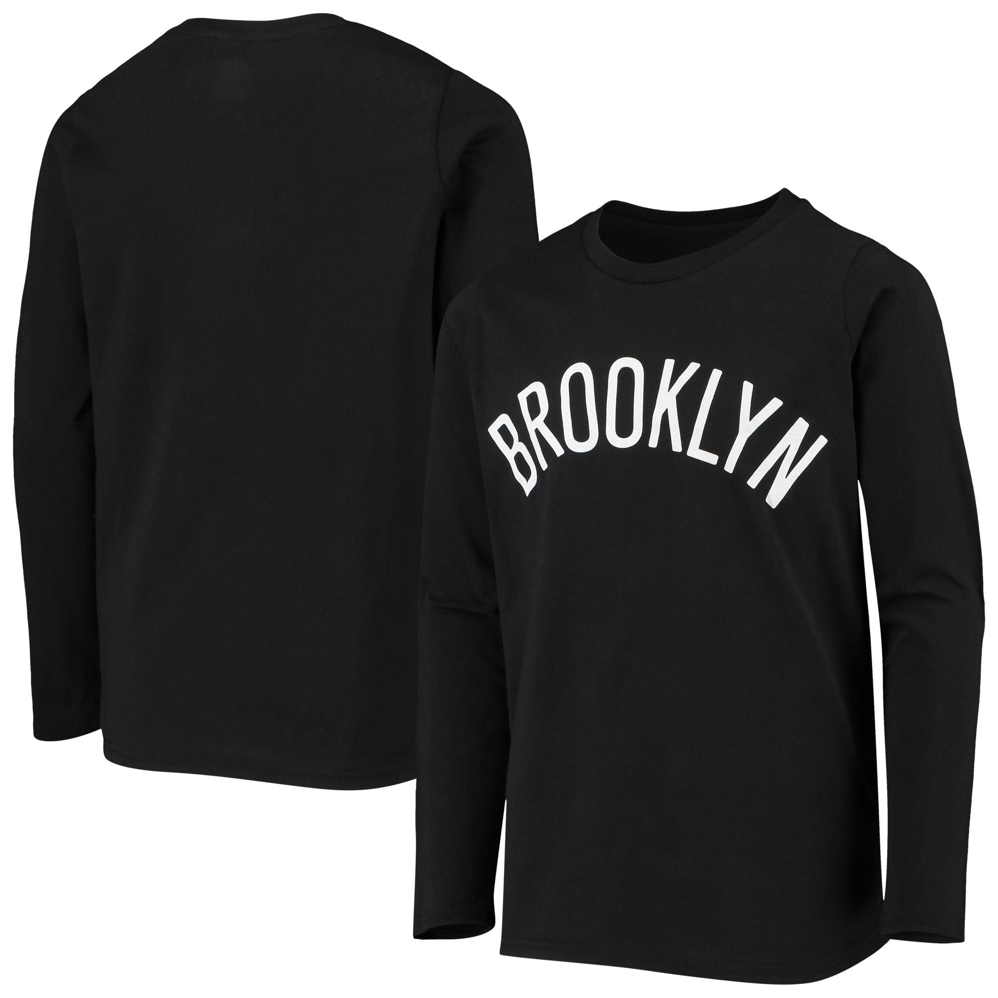 Brooklyn Nets Youth Primary Logo Long Sleeve T-Shirt - Black