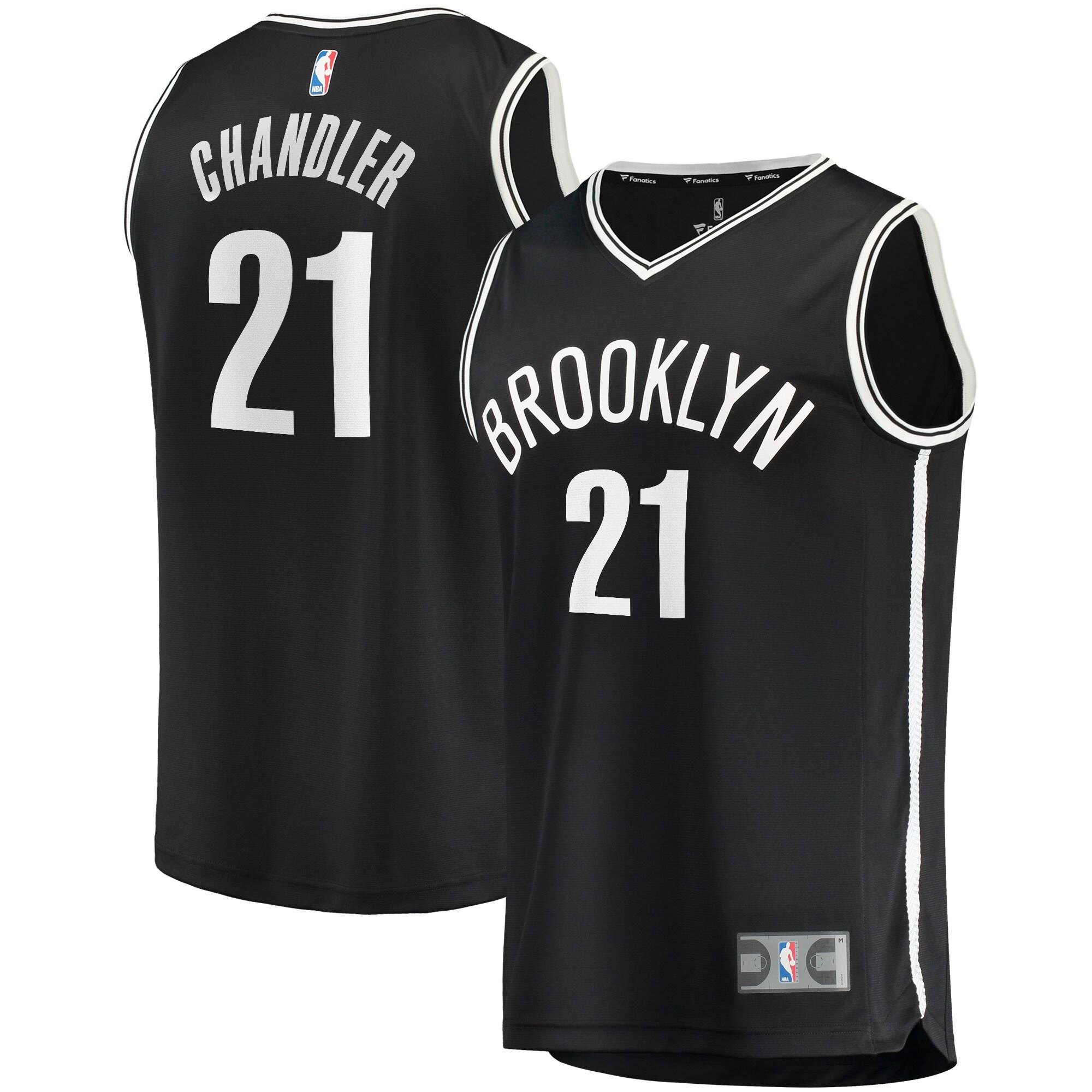Wilson Chandler Brooklyn Nets Fanatics Branded Fast Break Replica Jersey - Icon Edition - Black