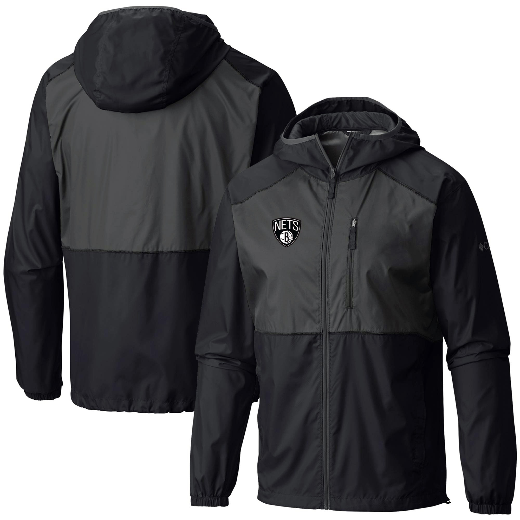 Brooklyn Nets Columbia Flash Forward Full-Zip Windbreaker Jacket - Black