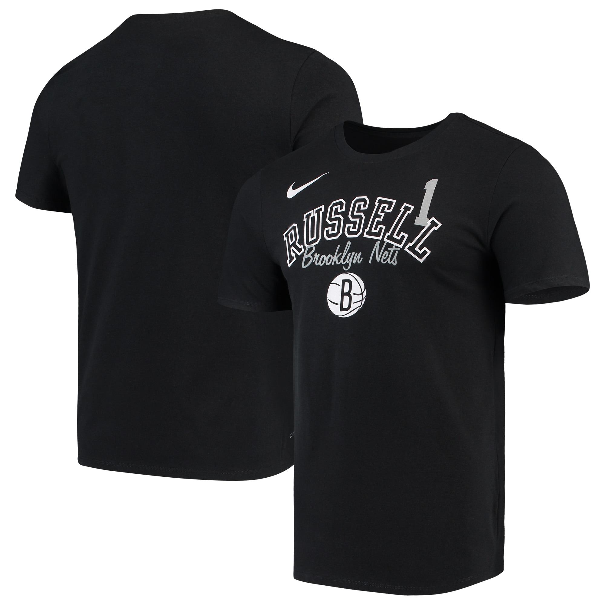 D'Angelo Russell Brooklyn Nets Nike Player Performance T-Shirt - Black